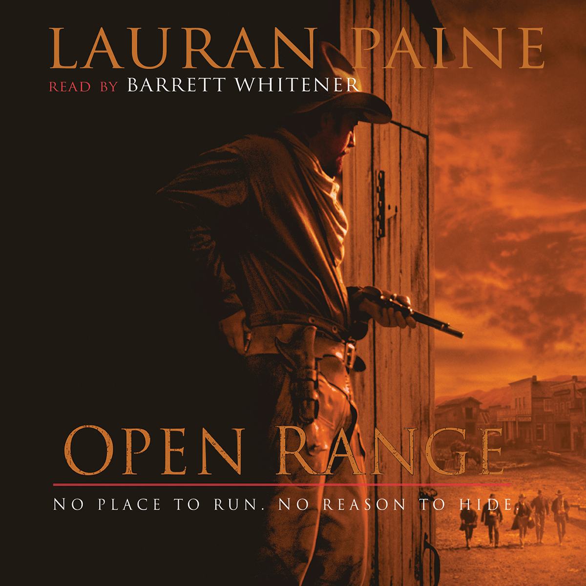 Printable Open Range Audiobook Cover Art
