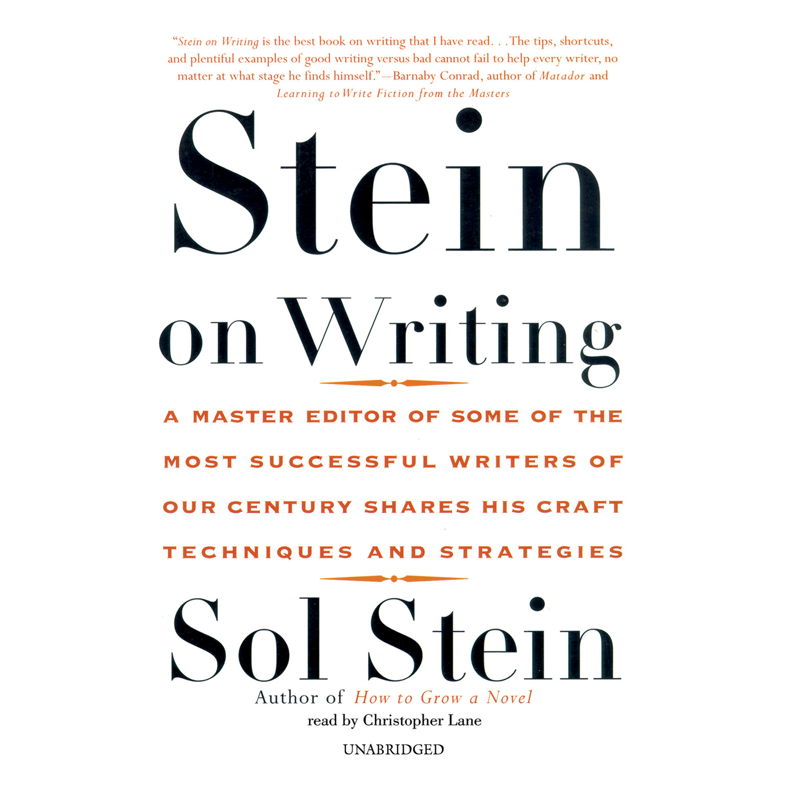 Printable Stein on Writing Audiobook Cover Art