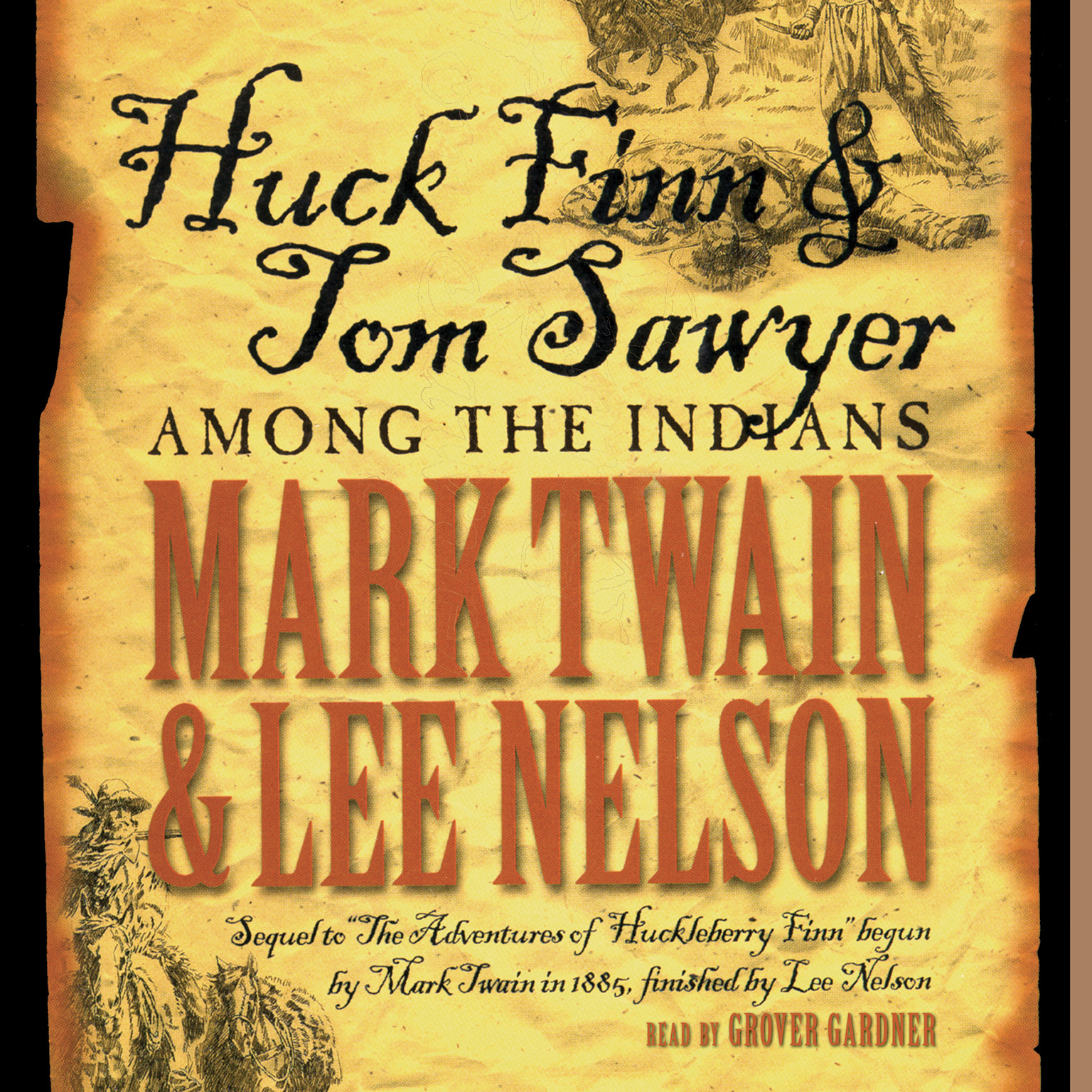 Printable Huck Finn and Tom Sawyer among the Indians Audiobook Cover Art