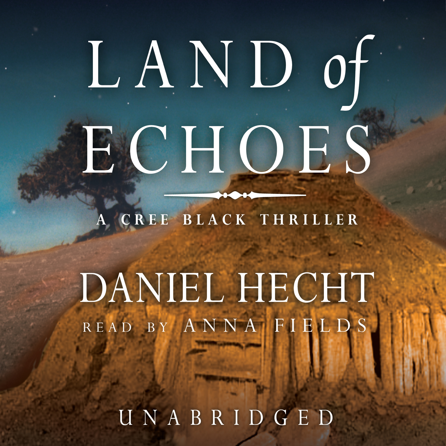 Printable Land of Echoes: A Cree Black Thriller Audiobook Cover Art