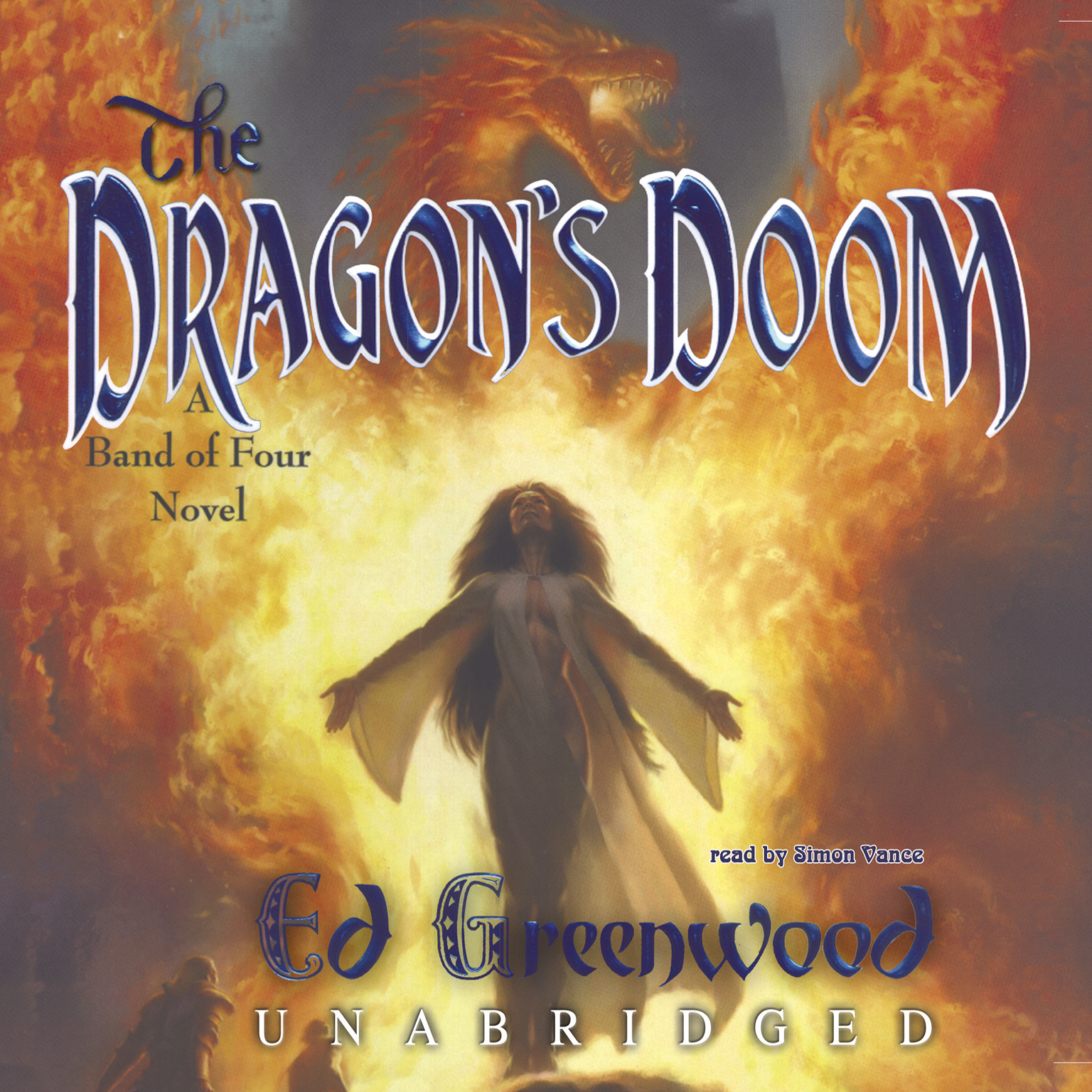 Printable The Dragon's Doom: A Band of Four Novel Audiobook Cover Art