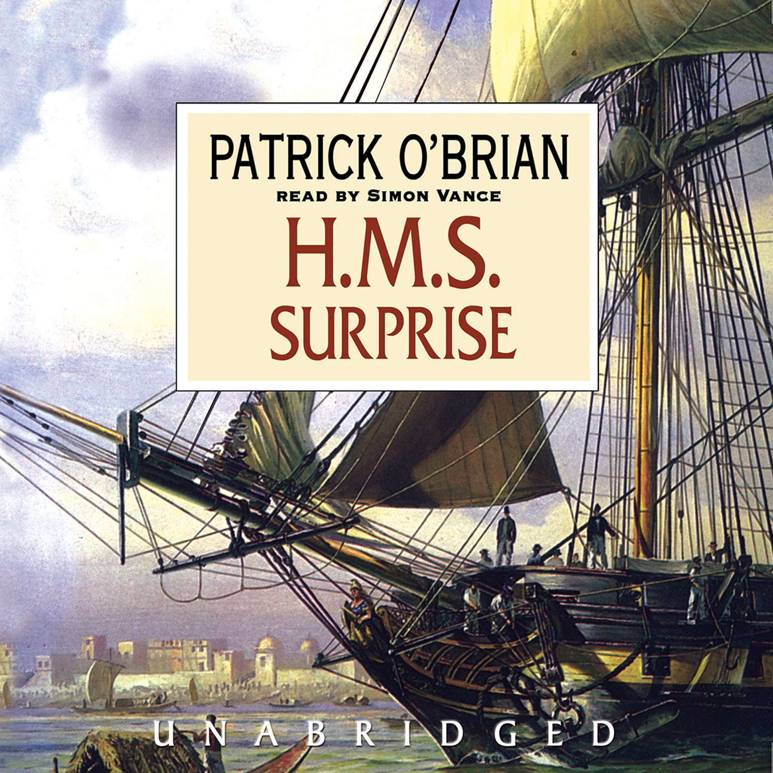 Printable H.M.S. Surprise Audiobook Cover Art