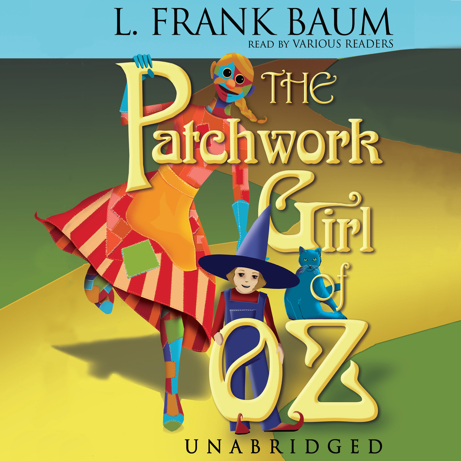 Printable The Patchwork Girl of Oz Audiobook Cover Art