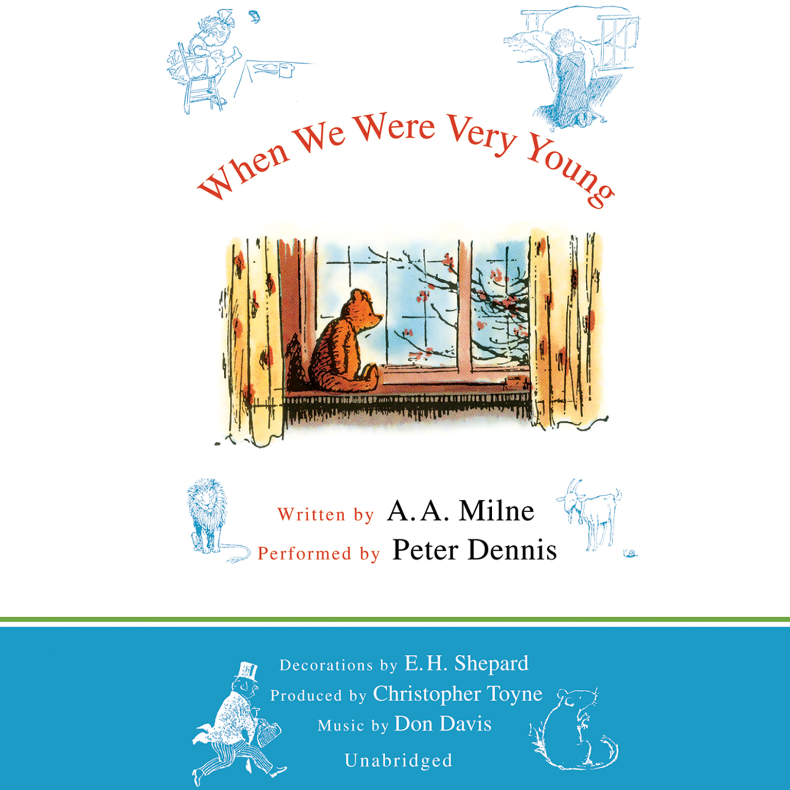 Printable When We Were Very Young Audiobook Cover Art