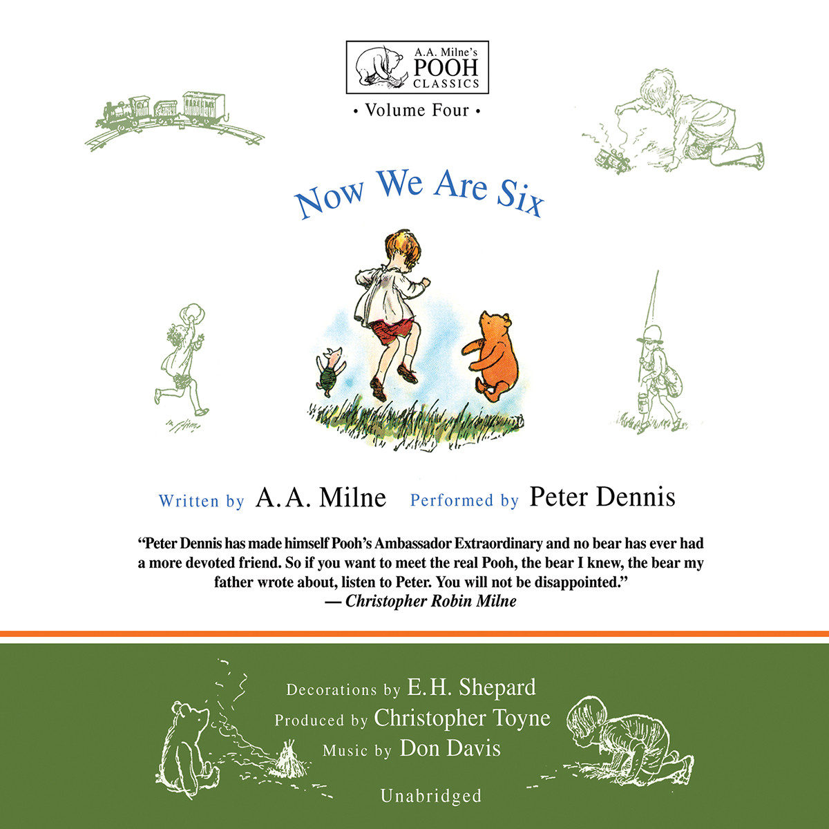 Printable Now We Are Six Audiobook Cover Art