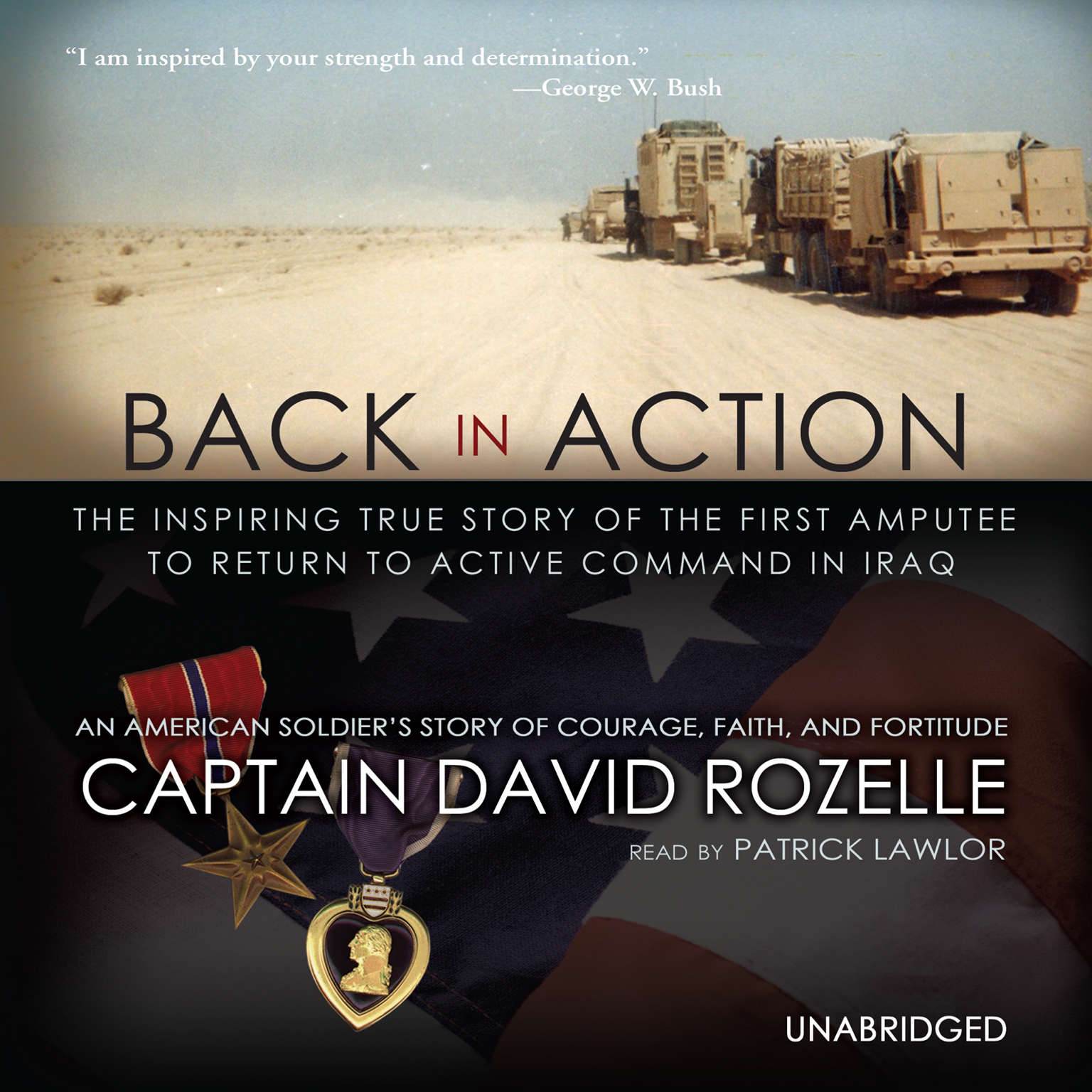 Printable Back in Action: An American Soldier's Story of Courage, Faith, and Fortitude Audiobook Cover Art