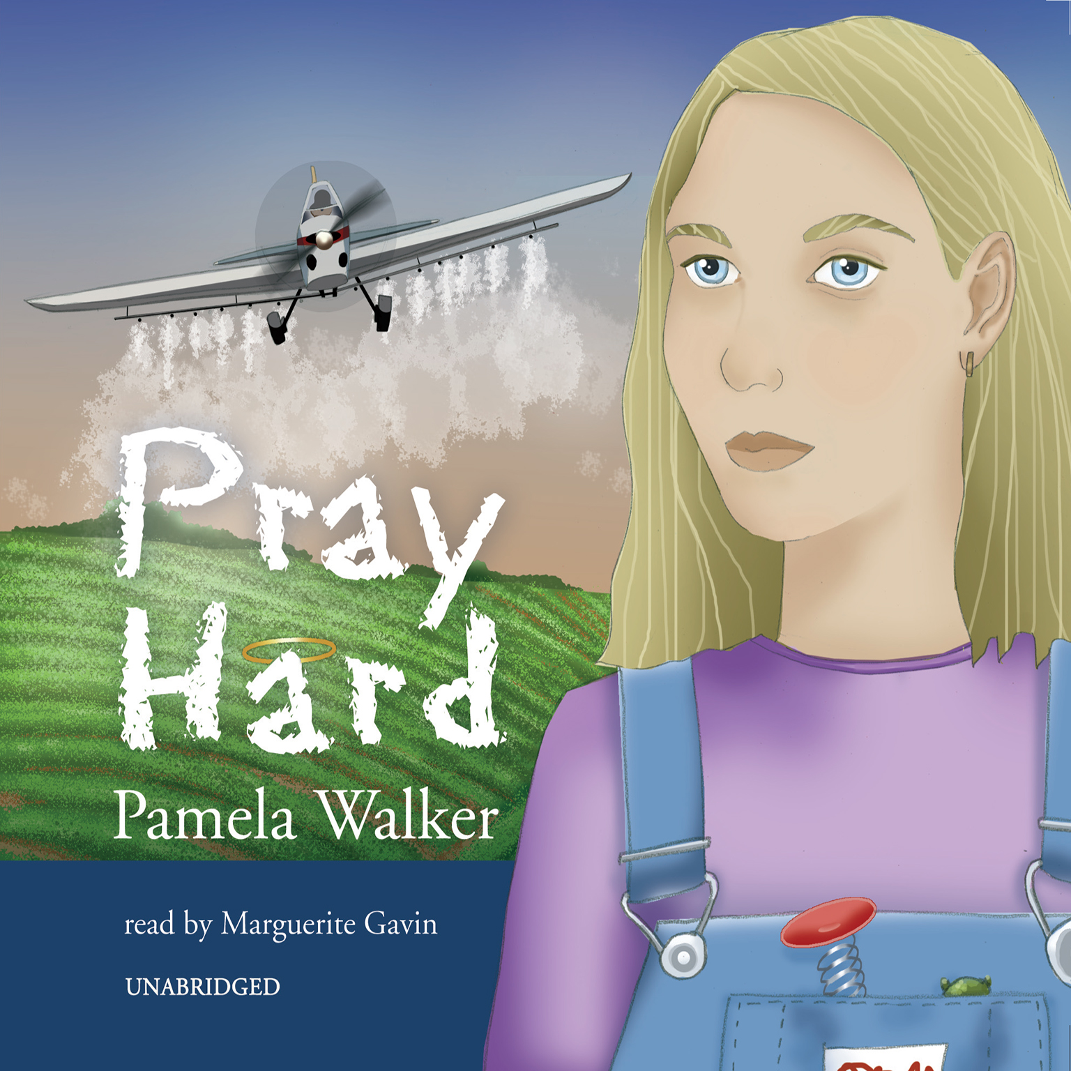 Printable Pray Hard Audiobook Cover Art