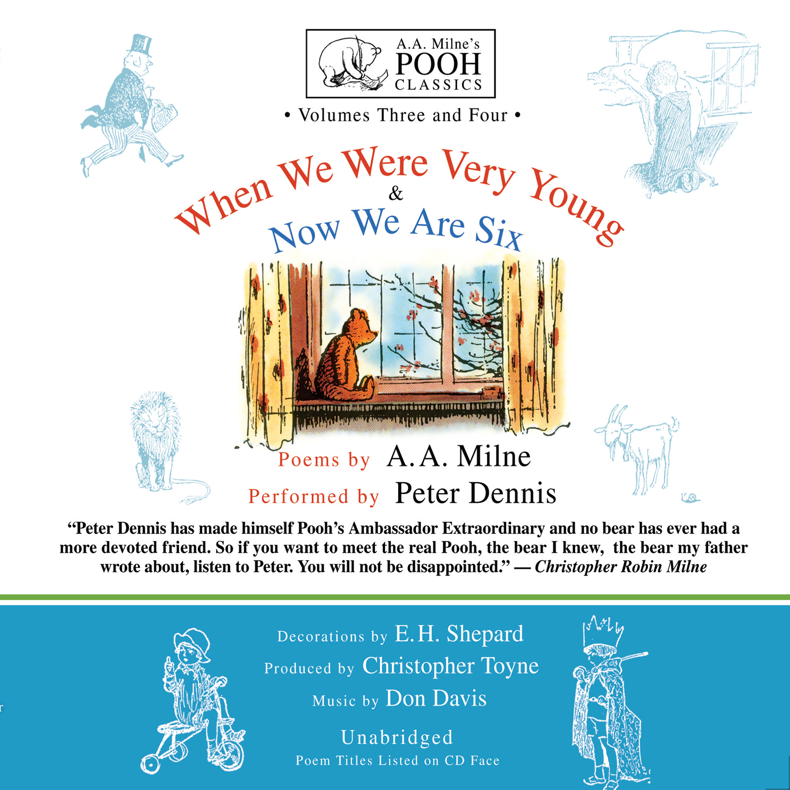 Printable When We Were Very Young and Now We Are Six Audiobook Cover Art