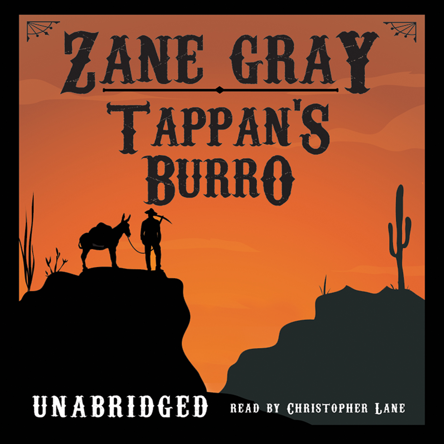 Printable Tappan's Burro Audiobook Cover Art