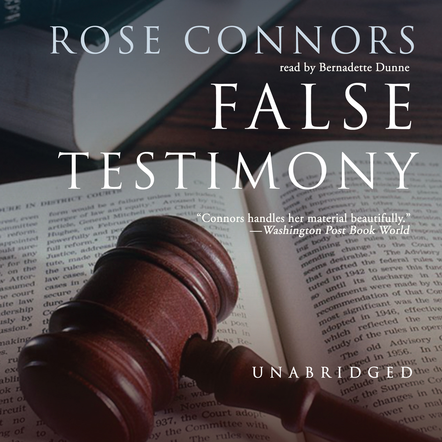 Printable False Testimony Audiobook Cover Art