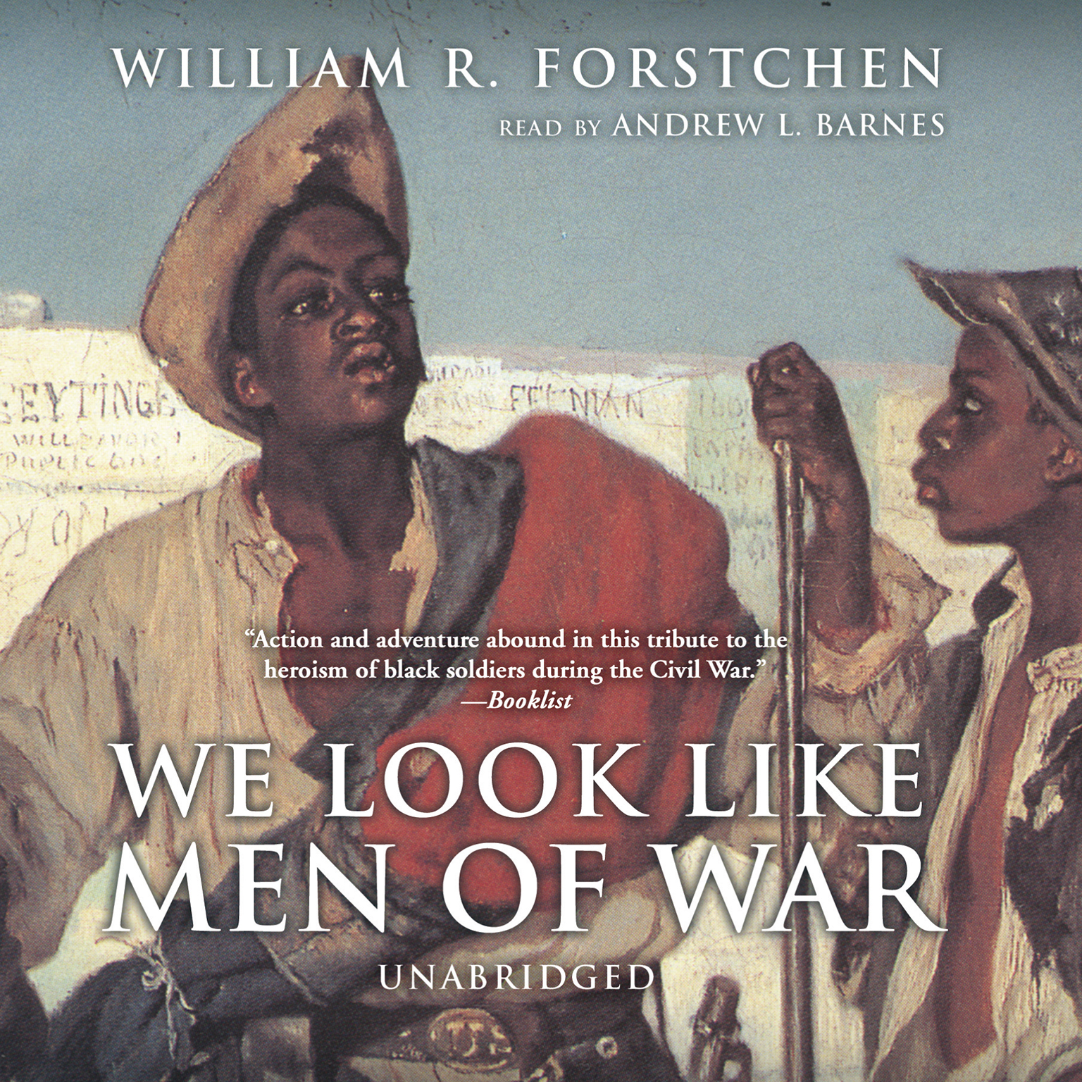 Printable We Look like Men of War Audiobook Cover Art