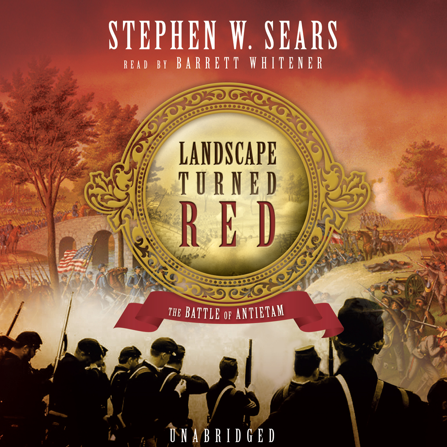 Printable Landscape Turned Red: The Battle of Antietam Audiobook Cover Art