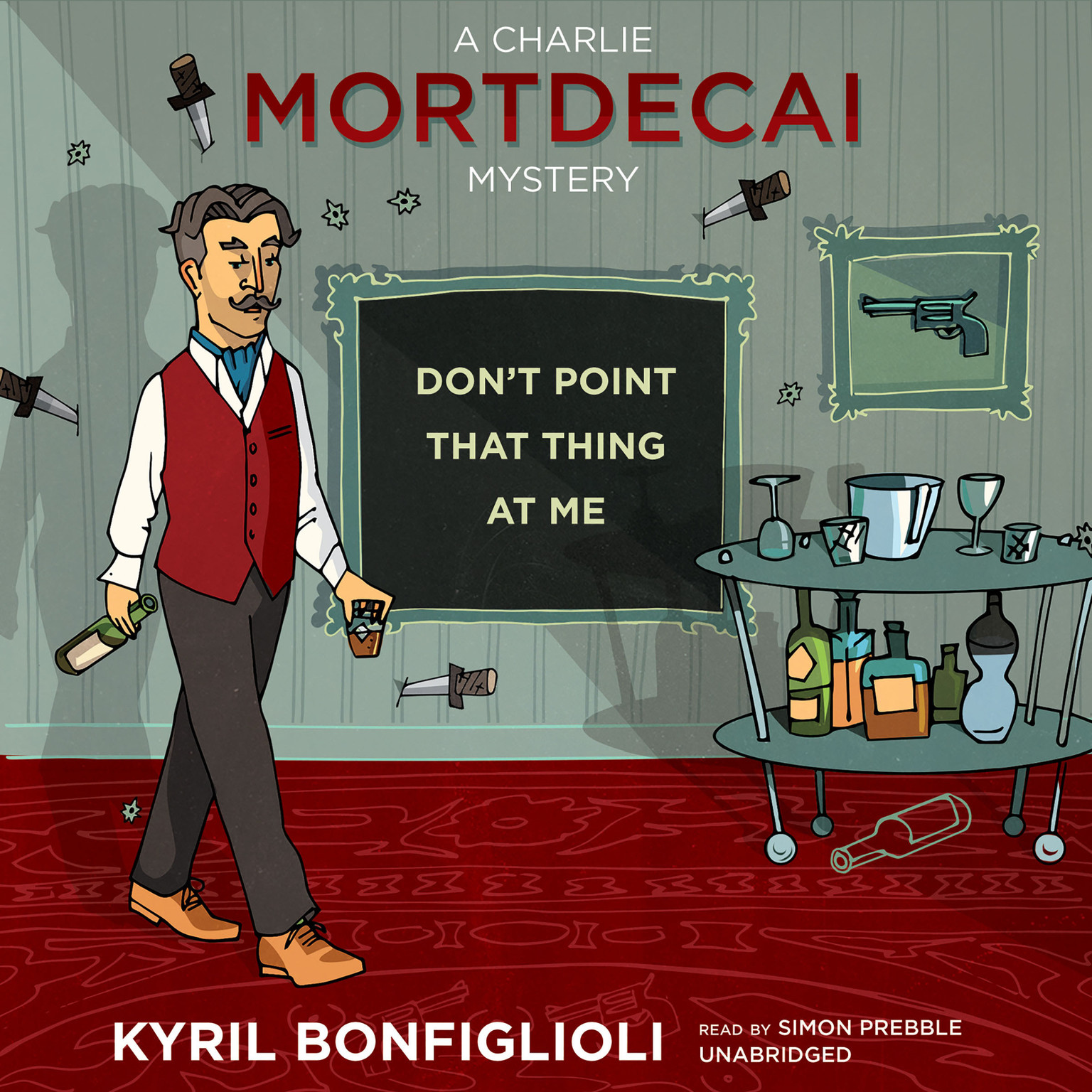 Printable Don't Point That Thing at Me Audiobook Cover Art