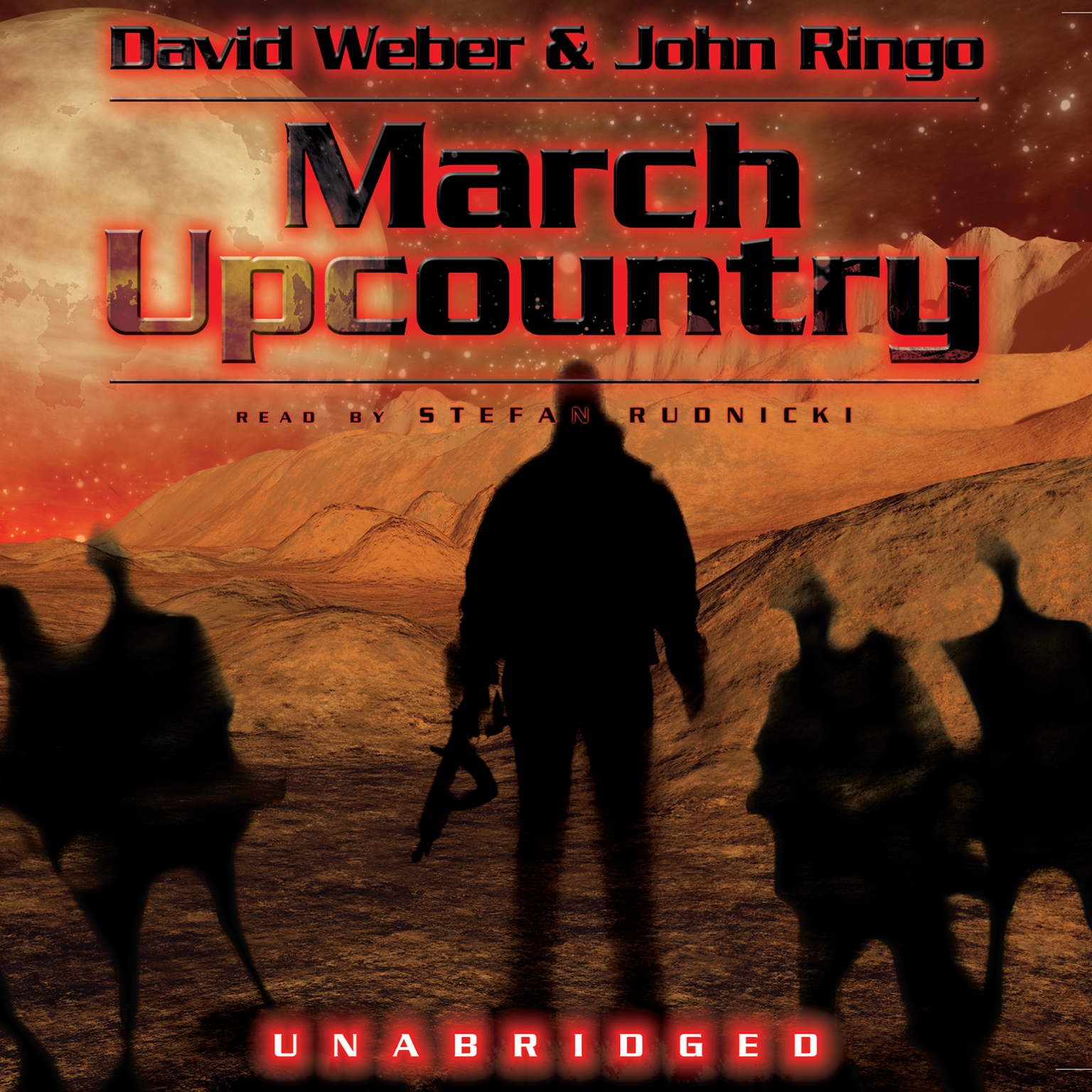 Printable March Upcountry Audiobook Cover Art