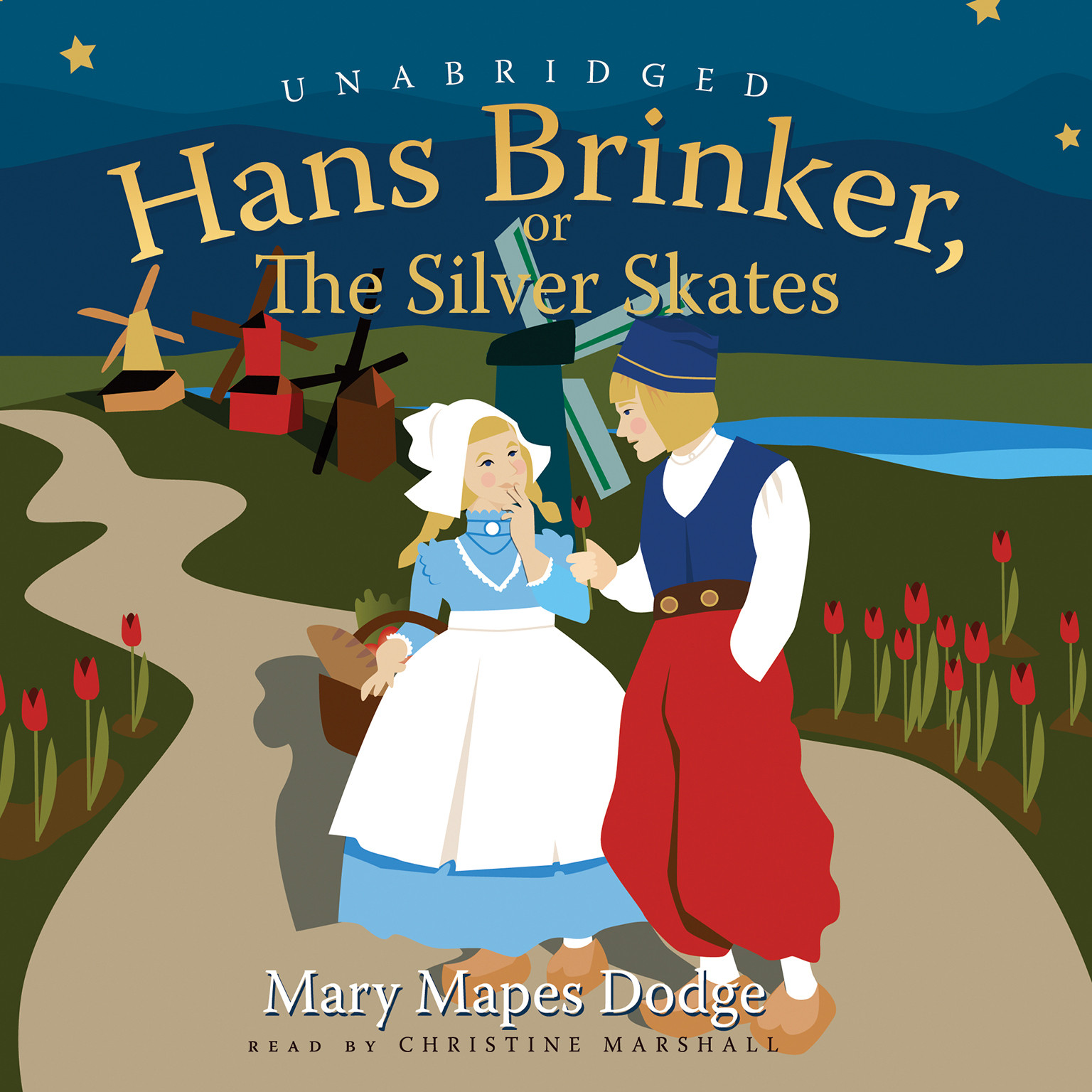 Printable Hans Brinker: or, The Silver Skates Audiobook Cover Art