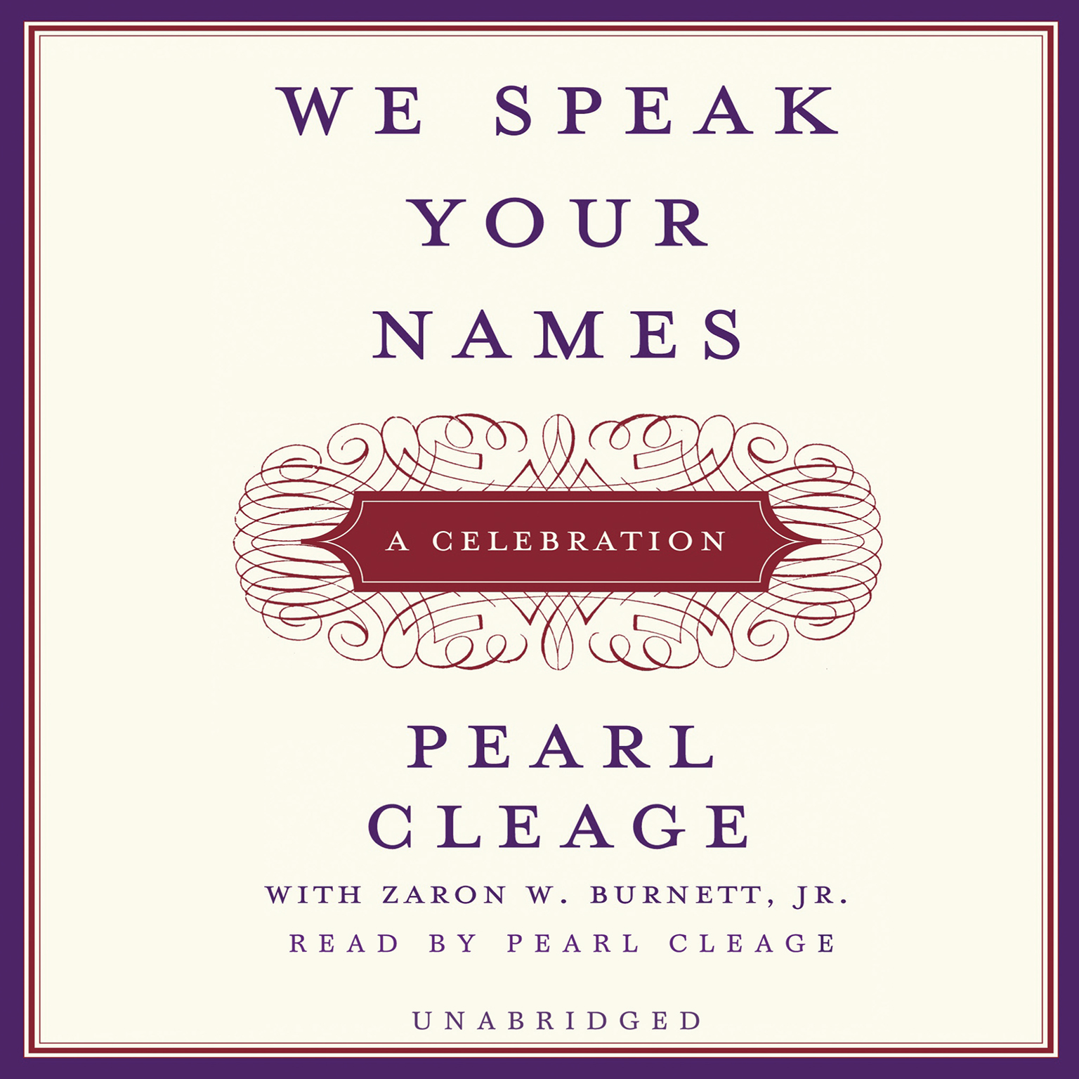 Printable We Speak Your Names: A Celebration Audiobook Cover Art