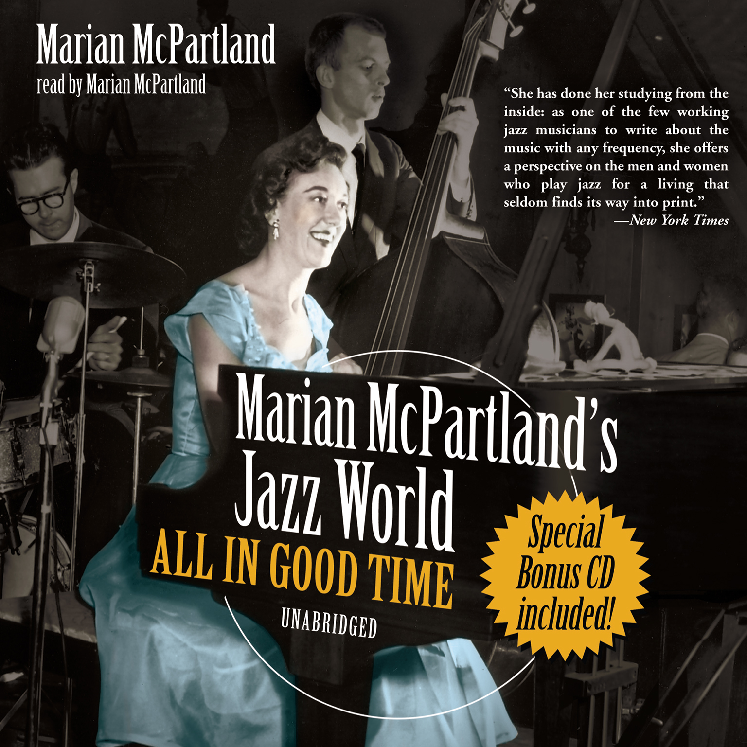 Printable Marian McPartland's Jazz World: All In Good Time Audiobook Cover Art
