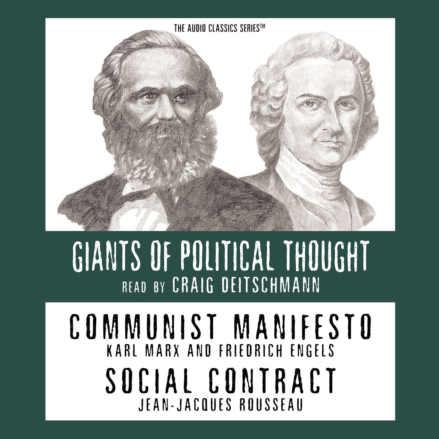 Printable Communist Manifesto and Social Contract Audiobook Cover Art
