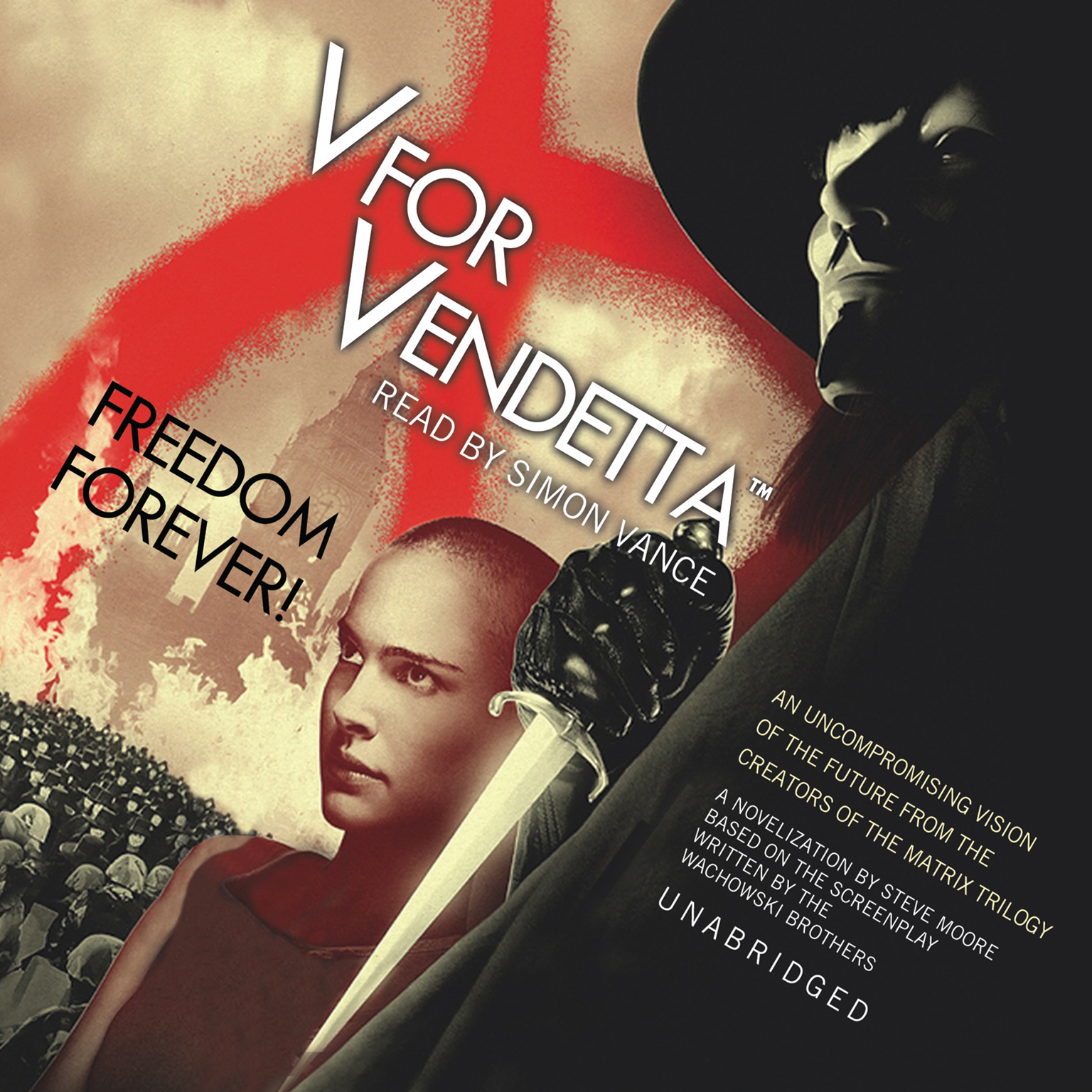 Printable V for Vendetta Audiobook Cover Art