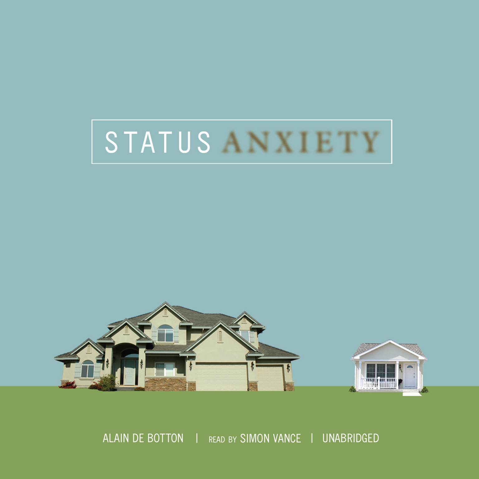 Printable Status Anxiety Audiobook Cover Art