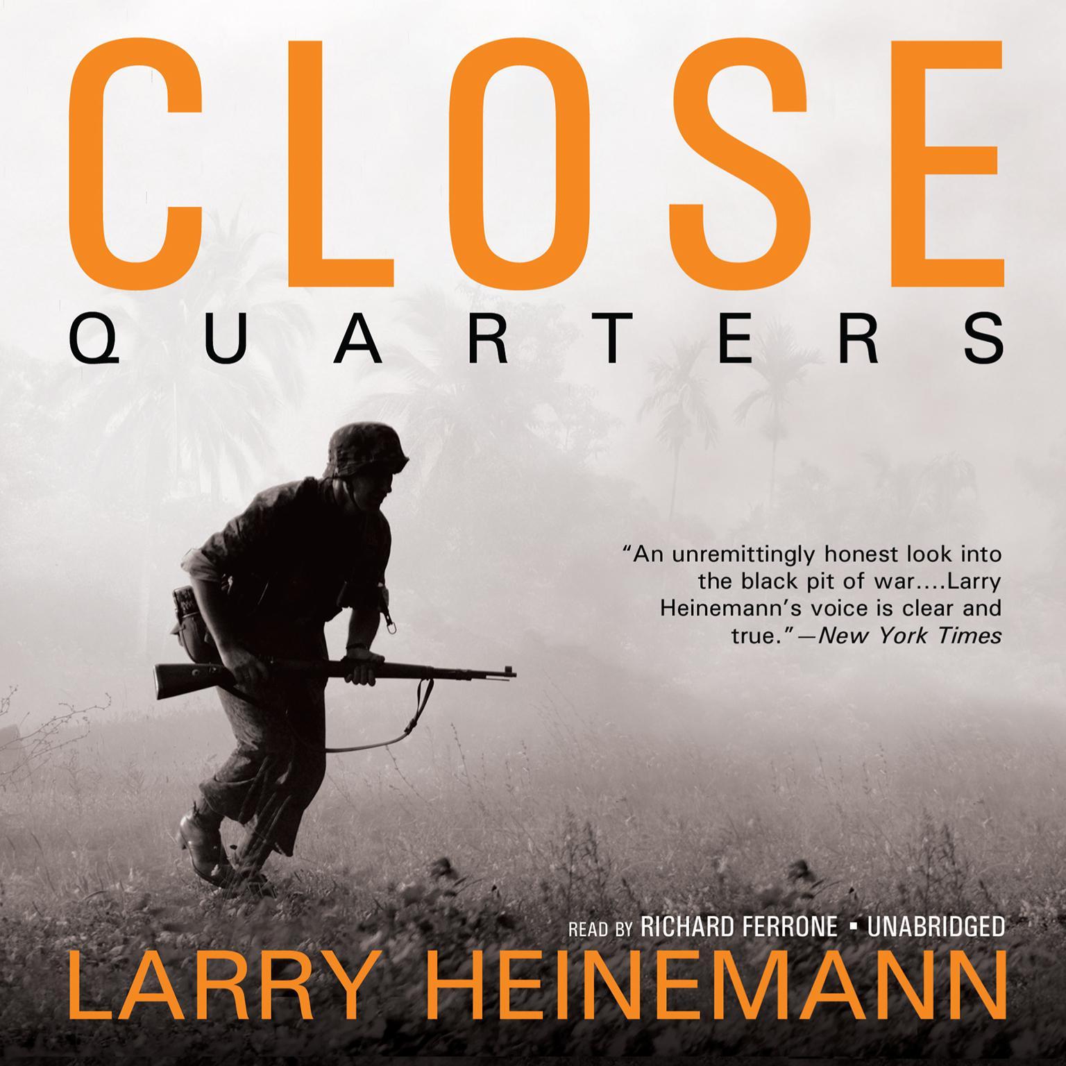 Printable Close Quarters Audiobook Cover Art