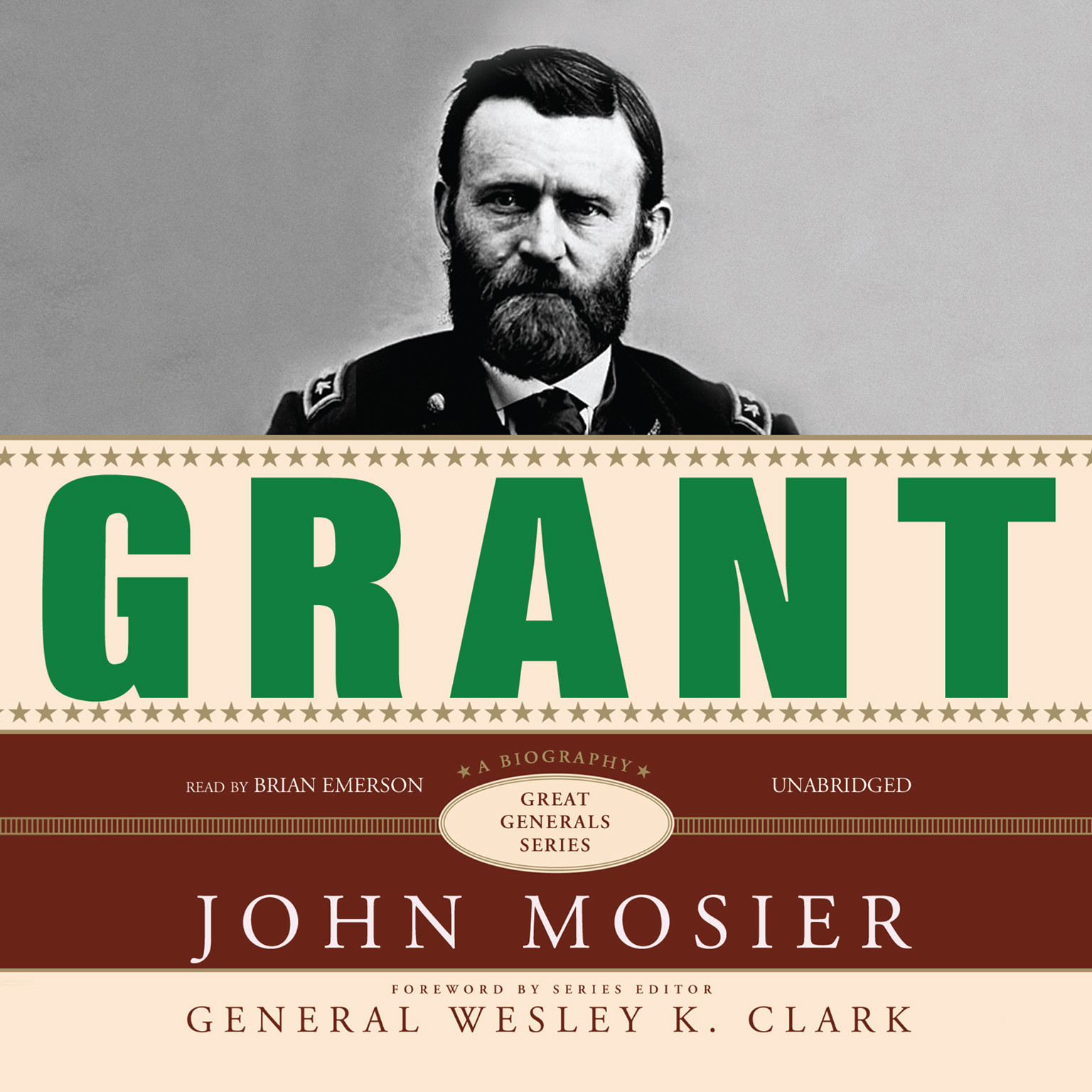 Printable Grant: A Biography Audiobook Cover Art