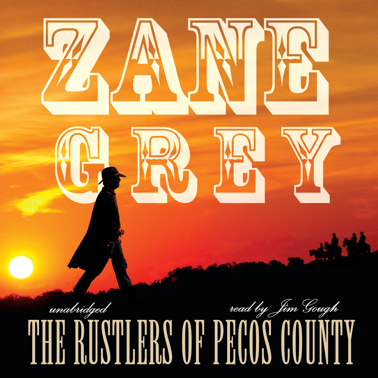 Printable The Rustlers of Pecos County Audiobook Cover Art