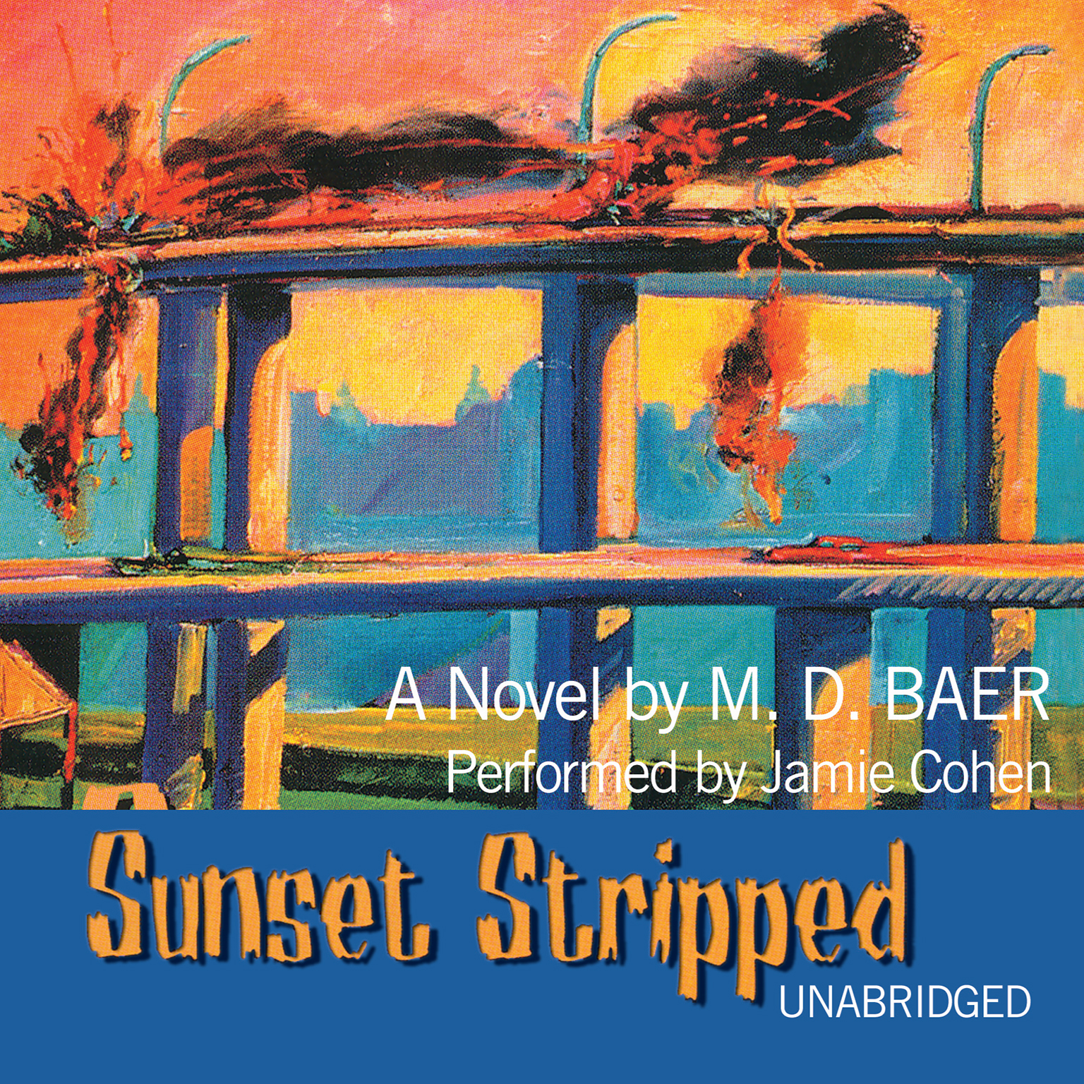 Printable Sunset Stripped Audiobook Cover Art