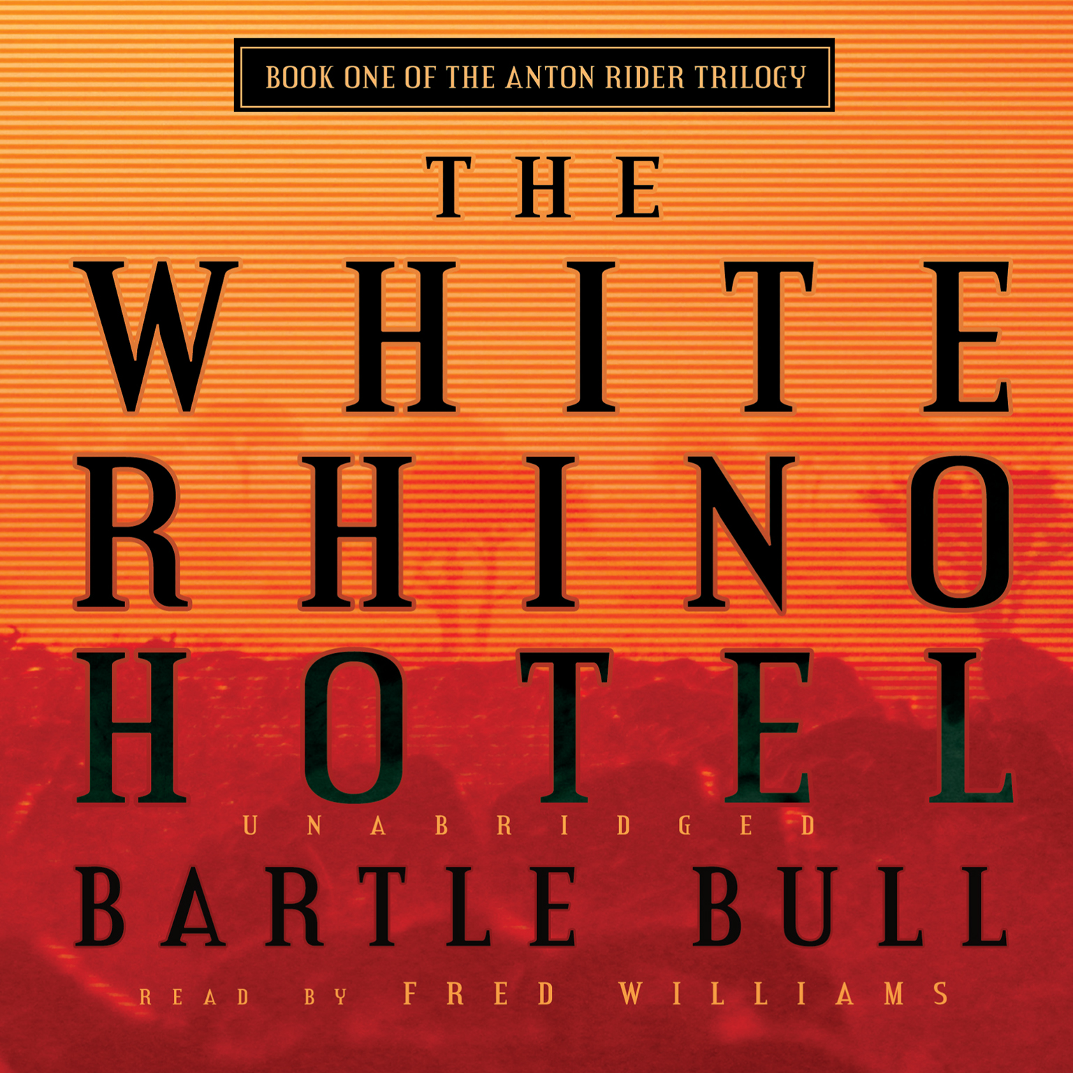 Printable The White Rhino Hotel Audiobook Cover Art