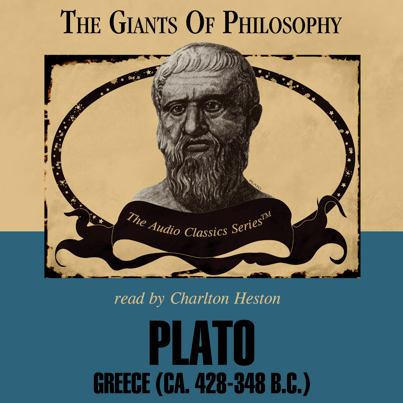 Printable Plato: Greece (ca. 428–348 BC) Audiobook Cover Art