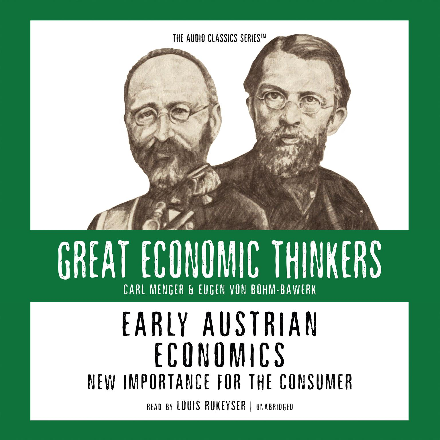 Printable Early Austrian Economics: New Importance for the Consumer Audiobook Cover Art