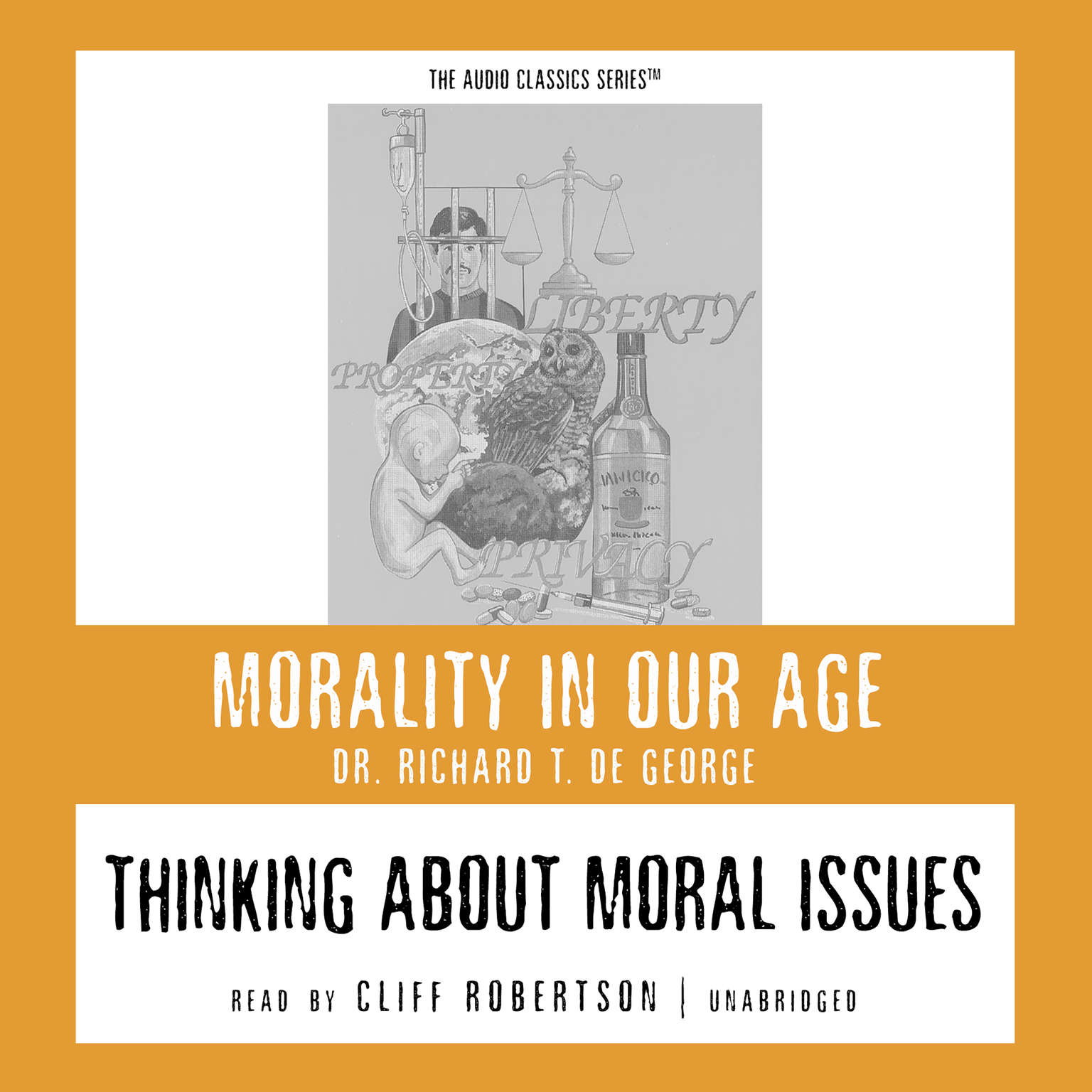 Printable Thinking about Moral Issues Audiobook Cover Art