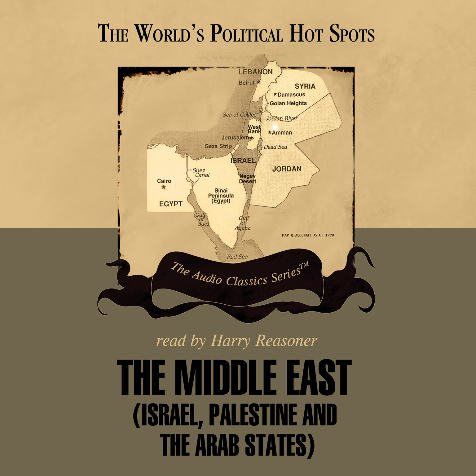 Printable The Middle East: Israel, Palestine, and the Arab States Audiobook Cover Art