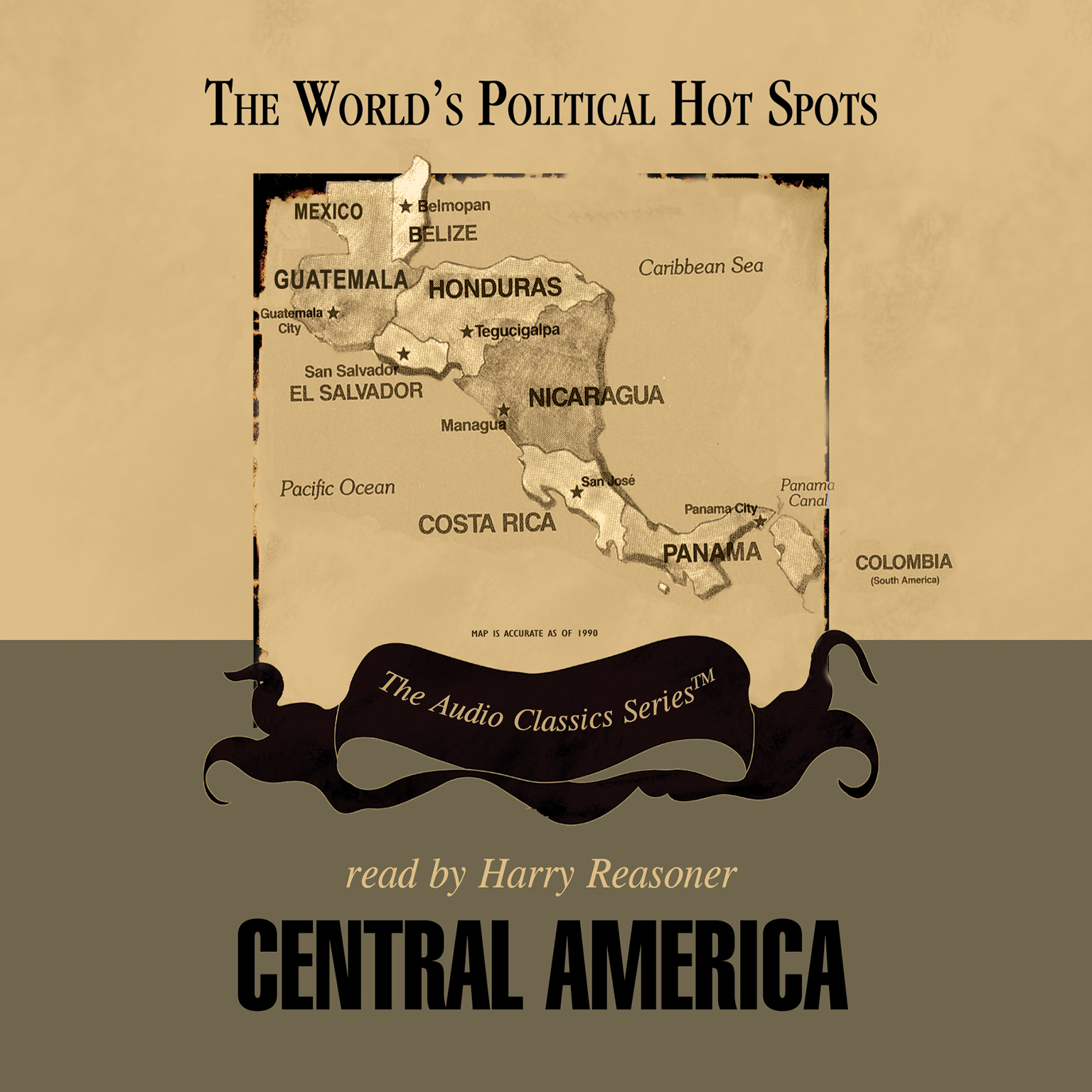 Printable Central America Audiobook Cover Art