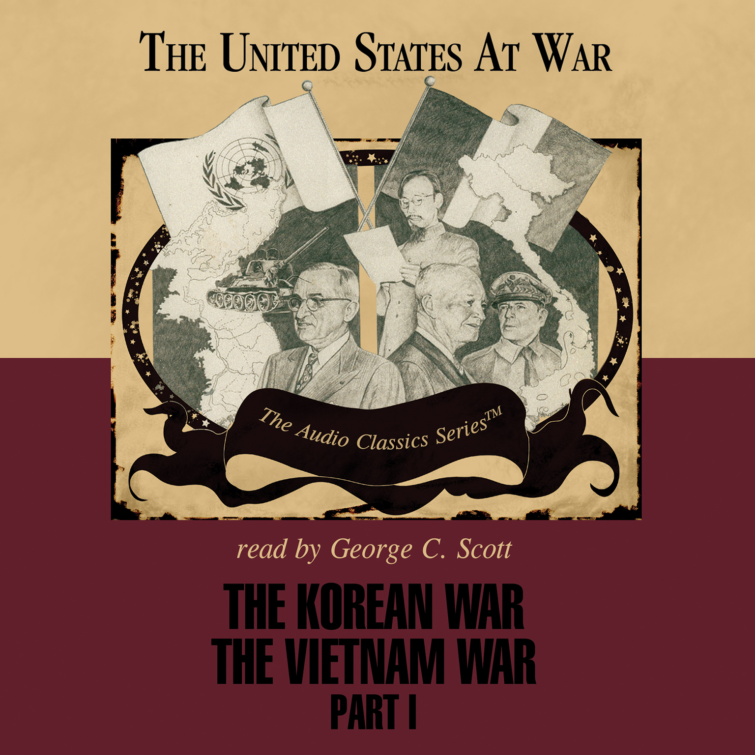 Printable The Korean War and The Vietnam War, Part 1 Audiobook Cover Art