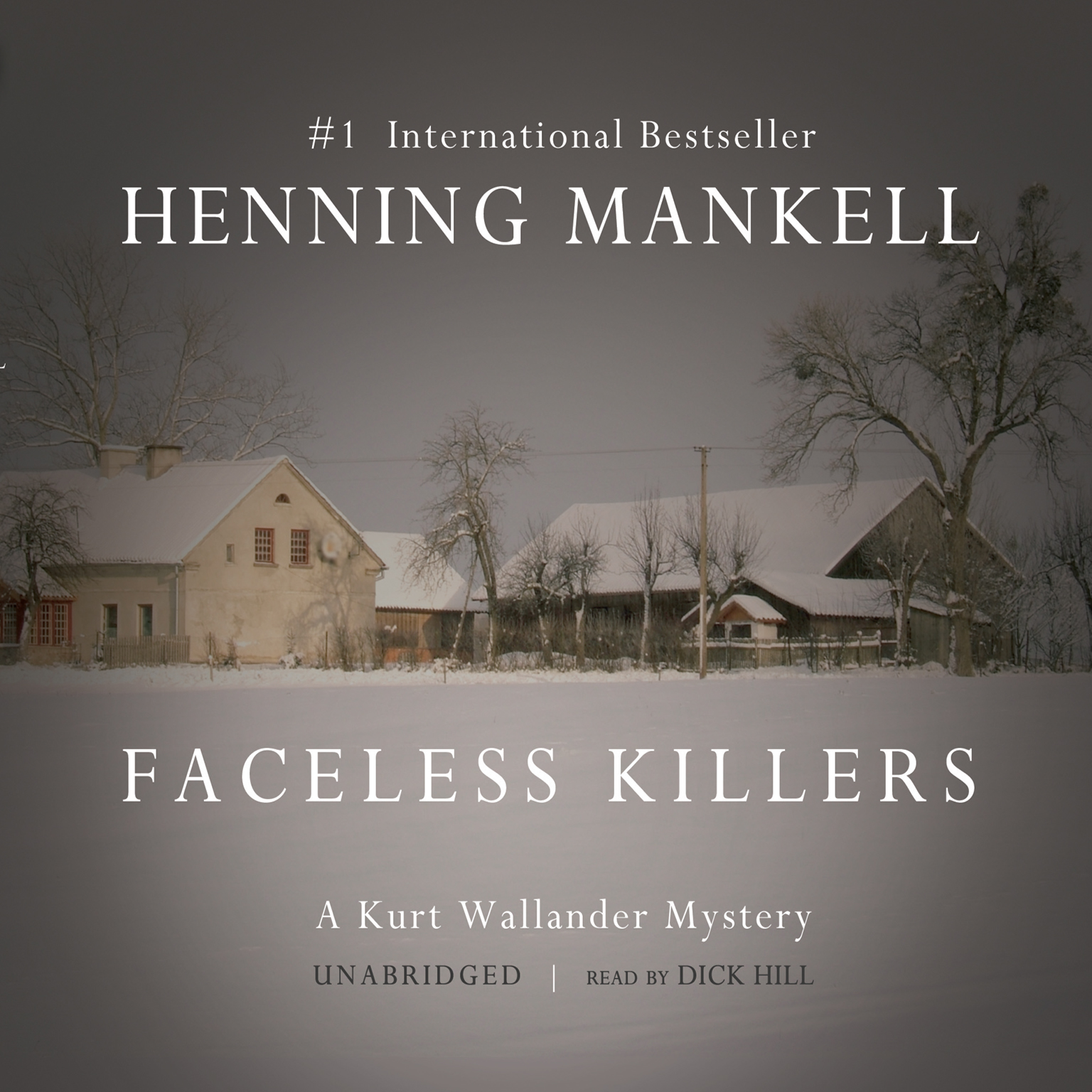 Printable Faceless Killers Audiobook Cover Art