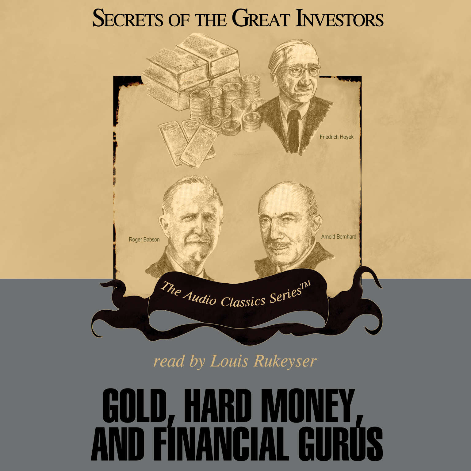 Printable Gold, Hard Money, and Financial Gurus Audiobook Cover Art