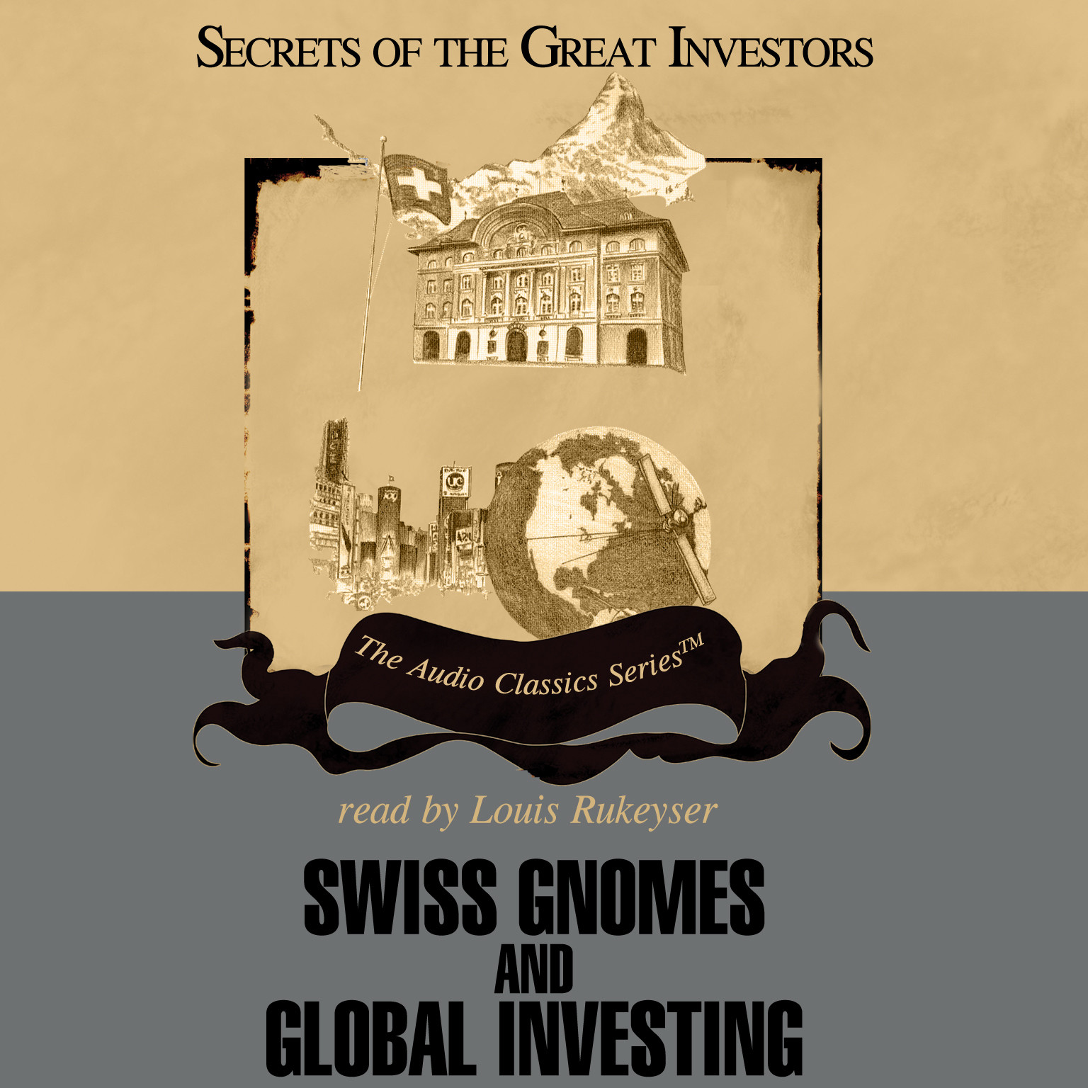 Printable Swiss Gnomes and Global Investing Audiobook Cover Art