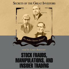 Stock Frauds, Manipulations, and Insider Trading Audiobook, by Thomas D. Saler, Donald J. Christensen