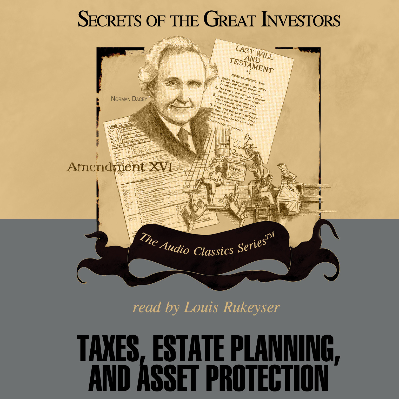 Printable Taxes, Estate Planning, and Asset Protection Audiobook Cover Art