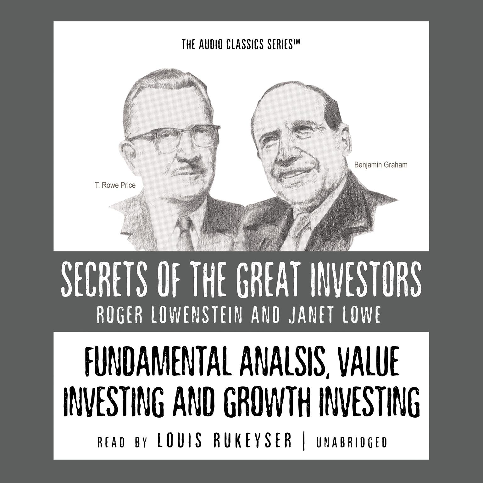 Printable Fundamental Analysis, Value Investing and Growth Investing Audiobook Cover Art
