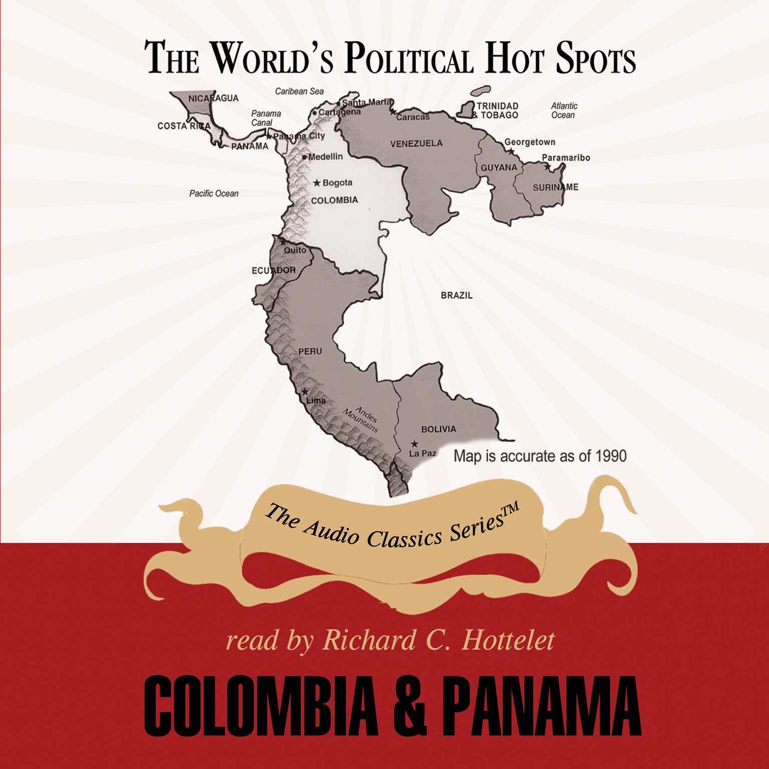 Printable Colombia and Panama Audiobook Cover Art