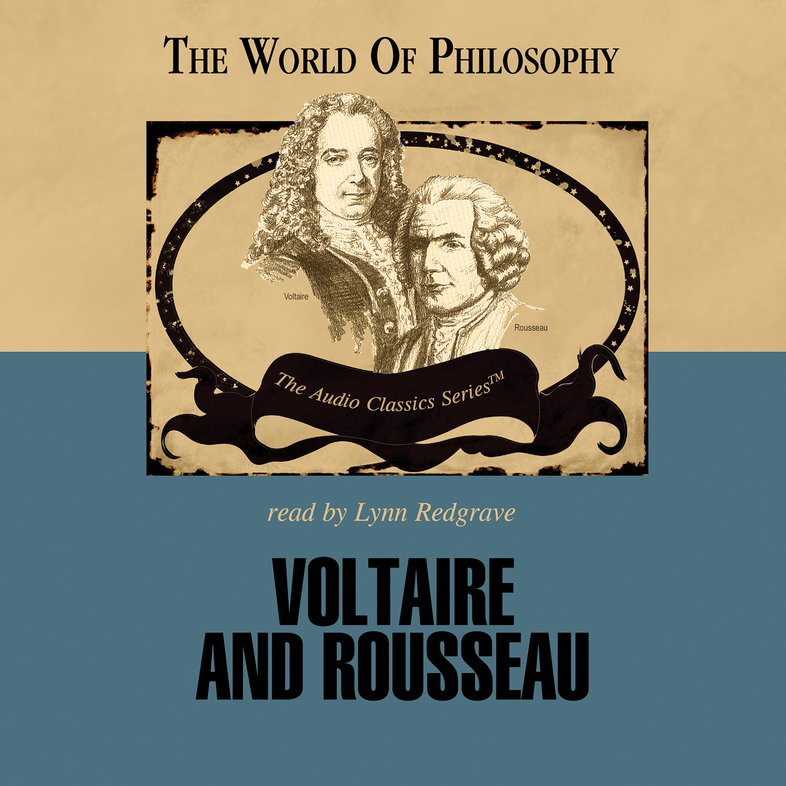 Printable Voltaire and Rousseau Audiobook Cover Art