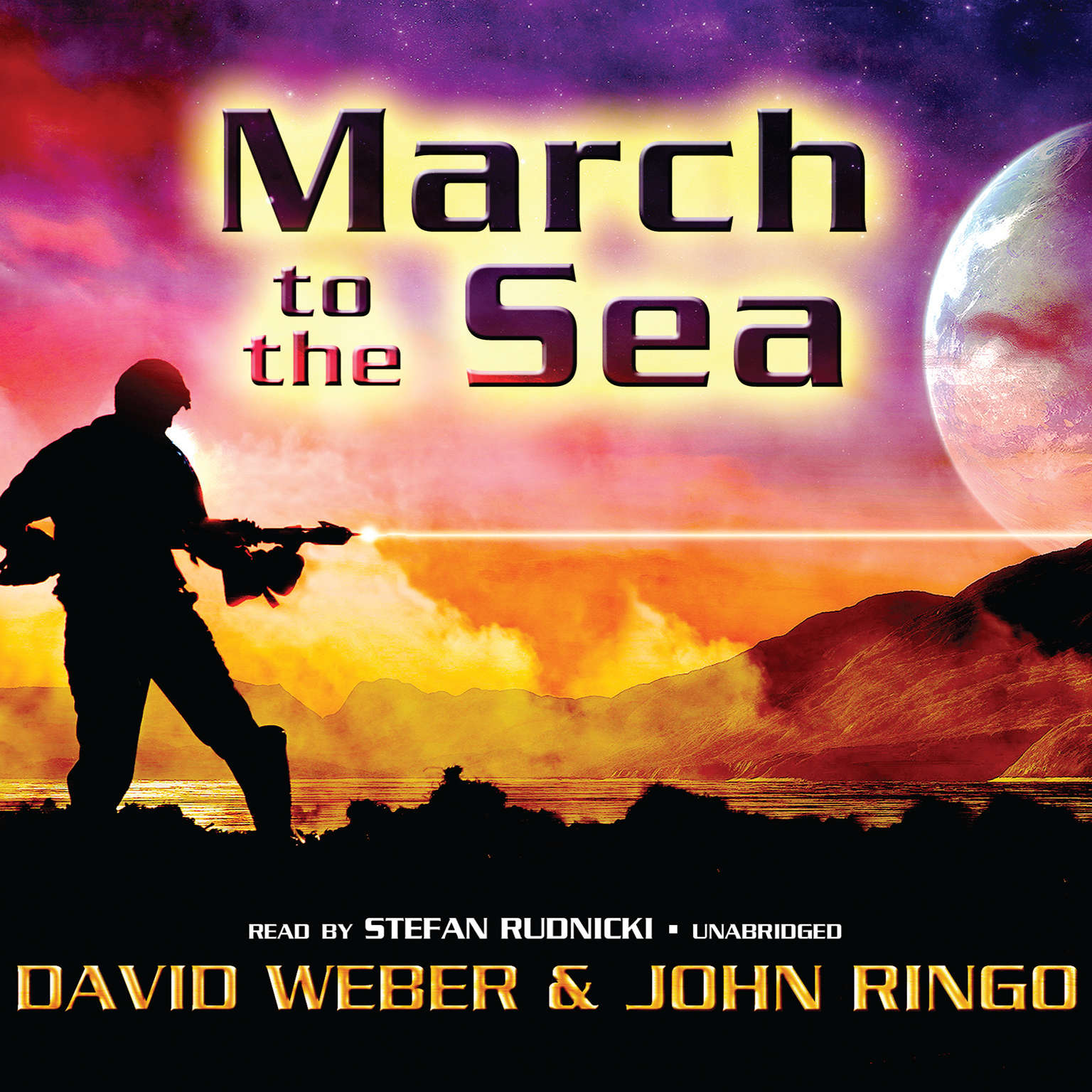 Printable March to the Sea Audiobook Cover Art
