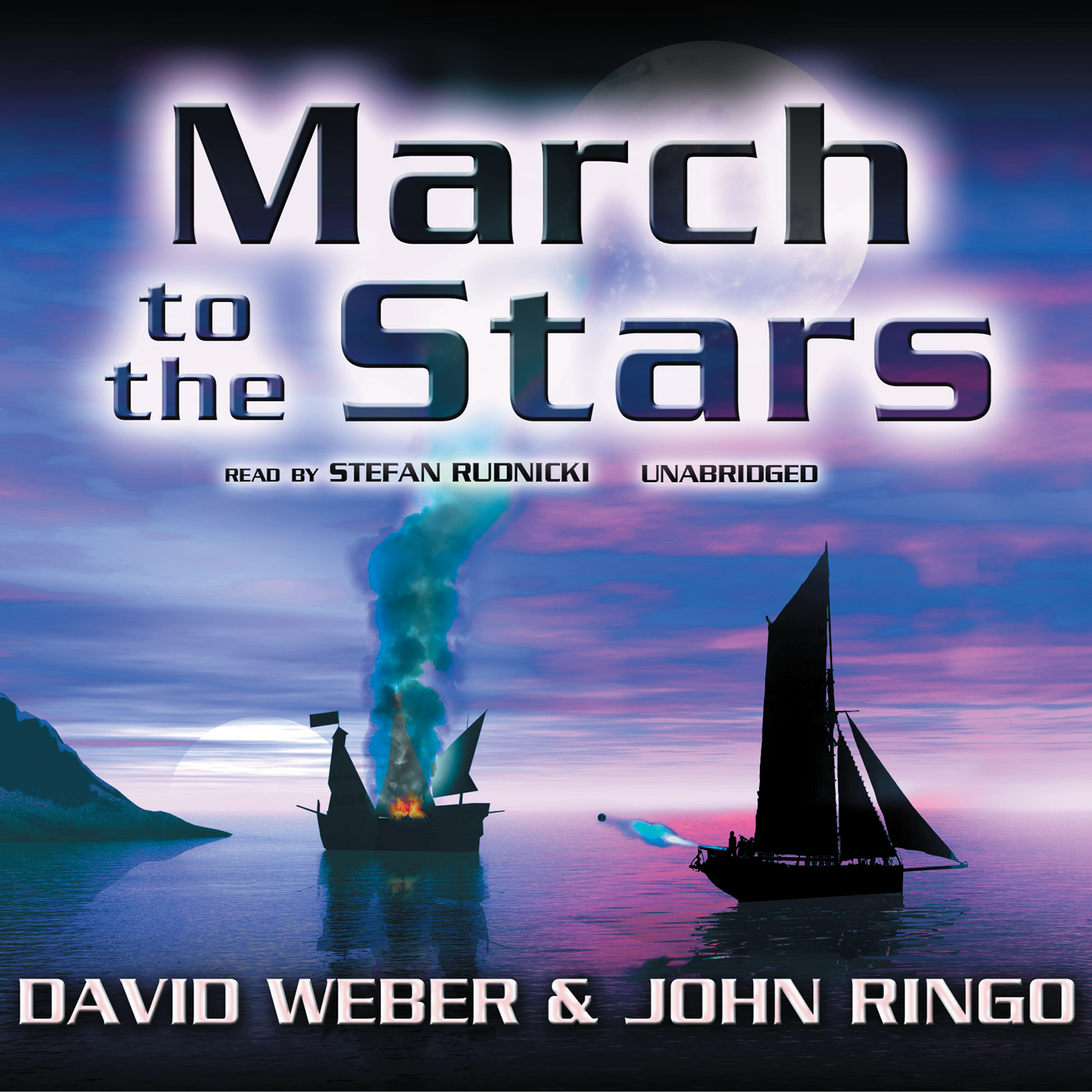 Printable March to the Stars Audiobook Cover Art