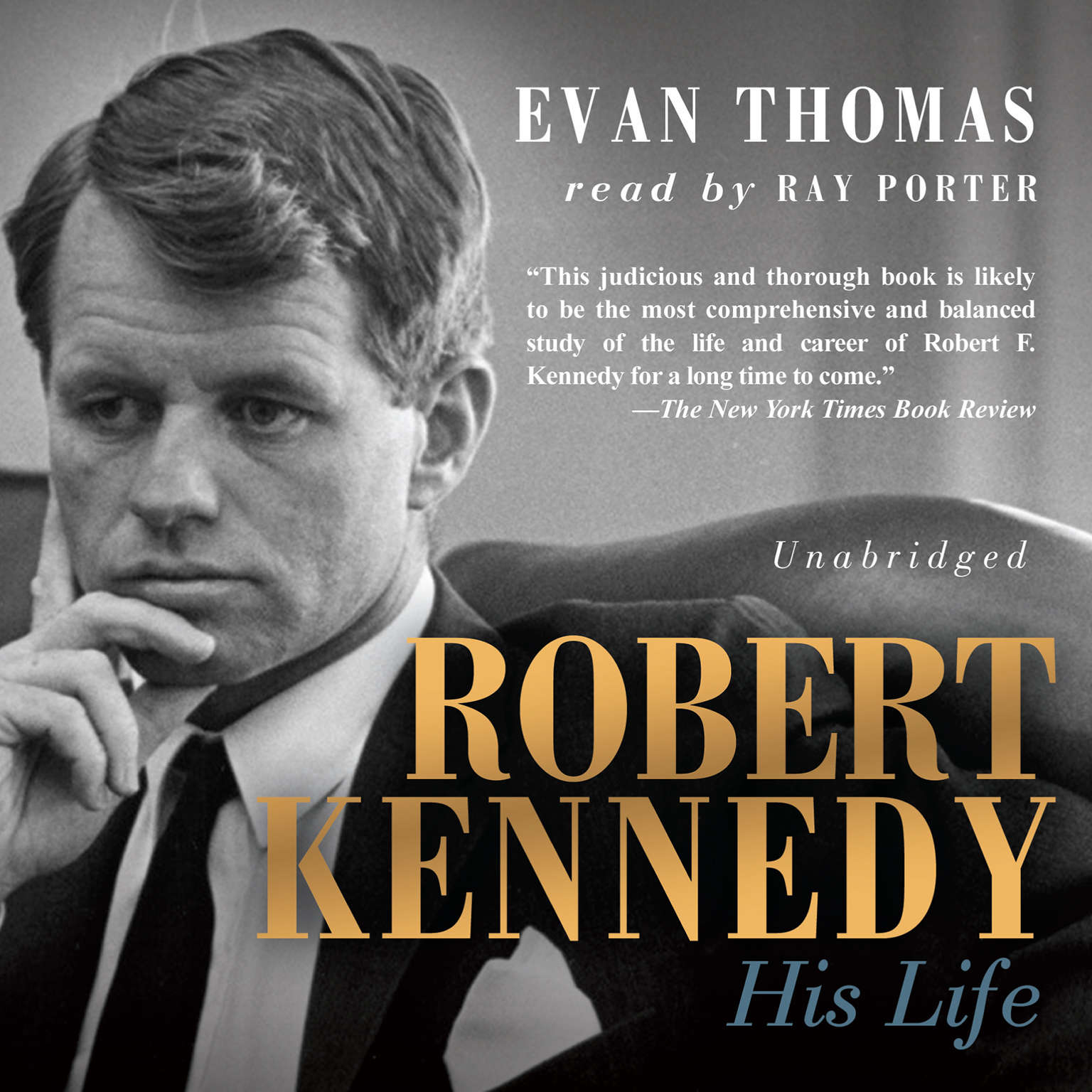 Printable Robert Kennedy: His Life Audiobook Cover Art