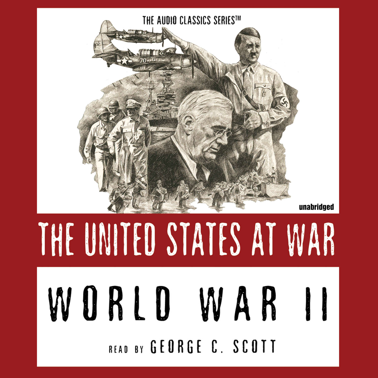 Printable World War II: The United States at War Audiobook Cover Art