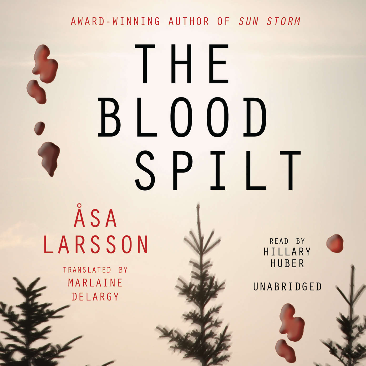Printable The Blood Spilt Audiobook Cover Art