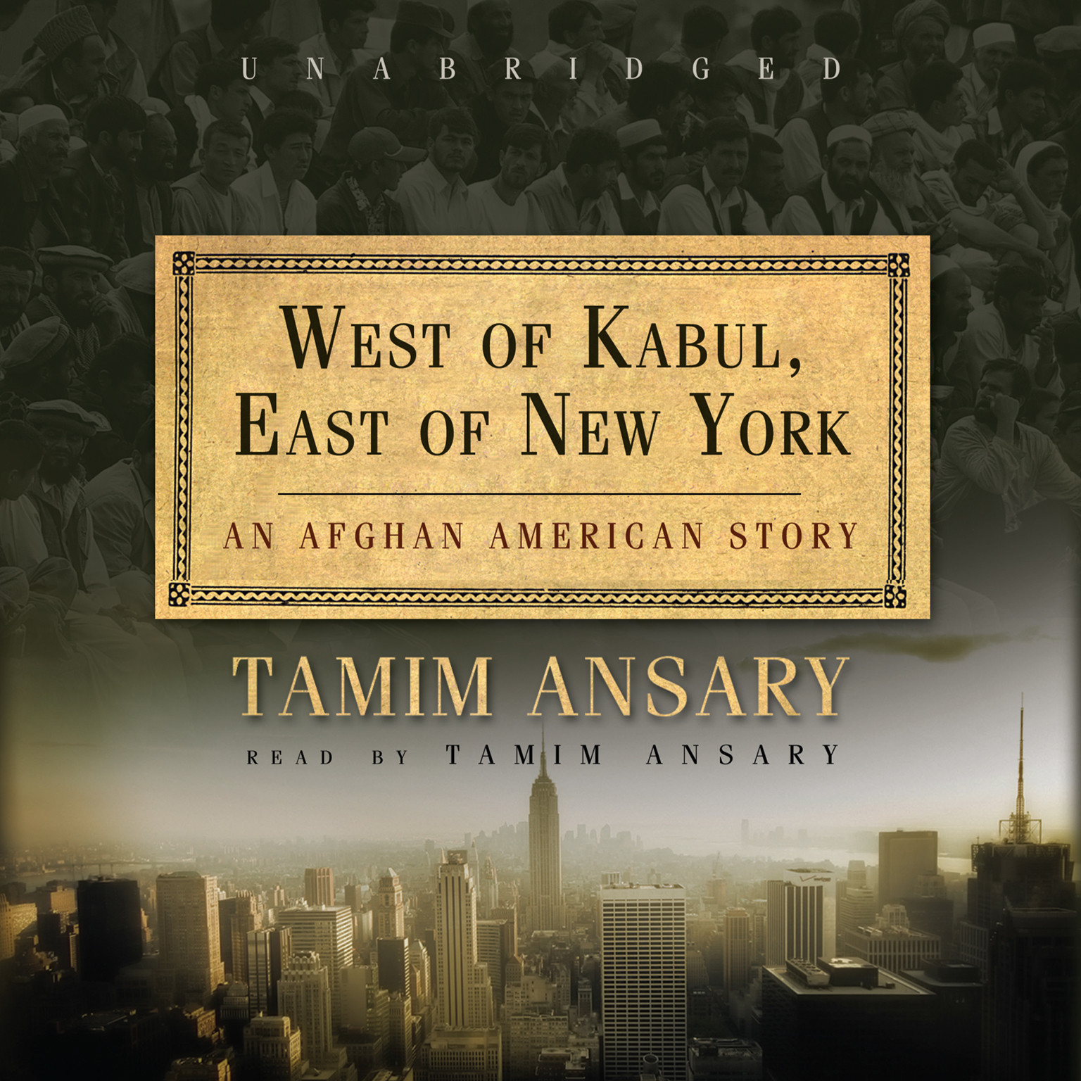 Printable West of Kabul, East of New York: An Afghan American Story Audiobook Cover Art