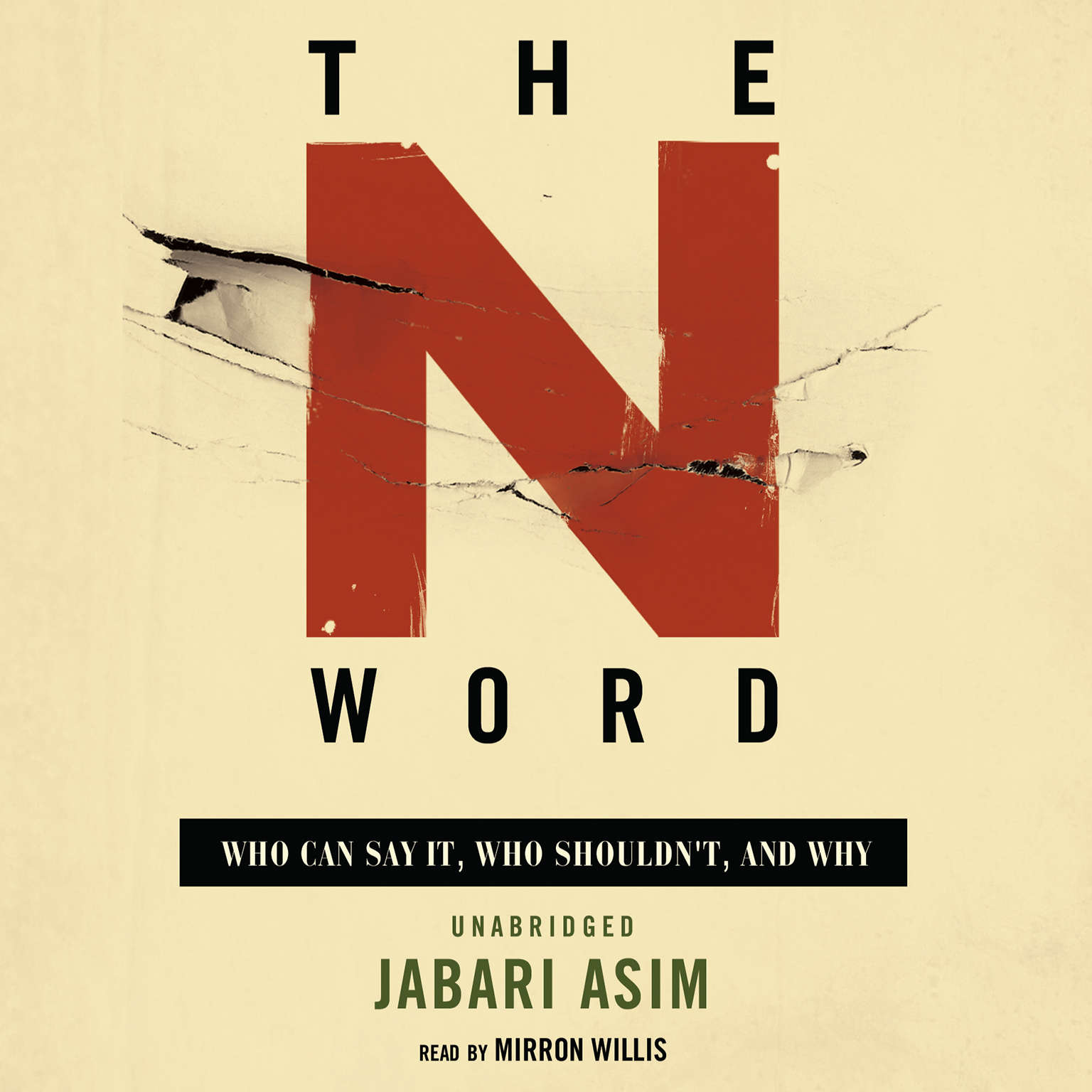 Printable The N Word: Who Can Say It, Who Shouldn't, and Why Audiobook Cover Art